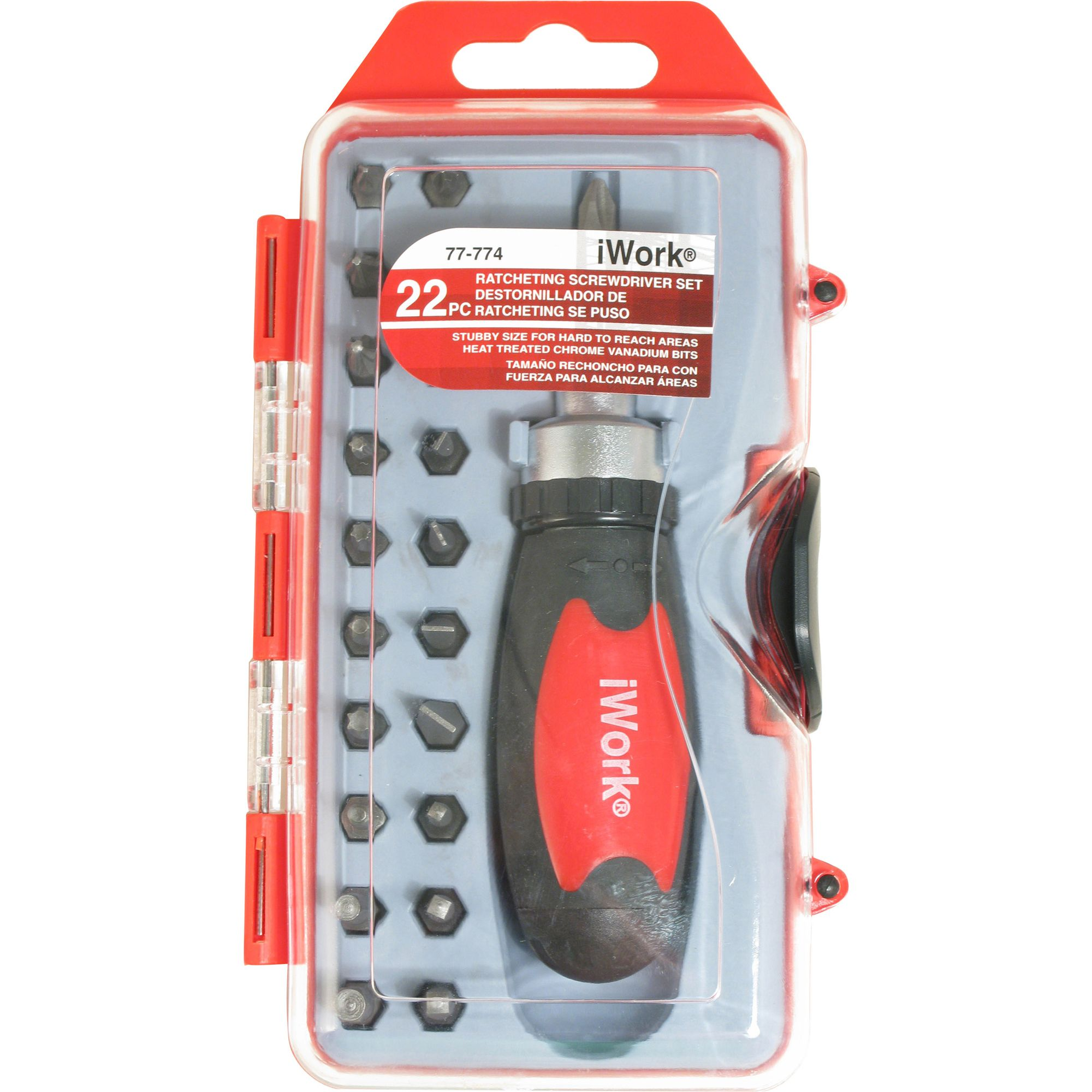 22 pc. Ratcheting Screwdriver Set