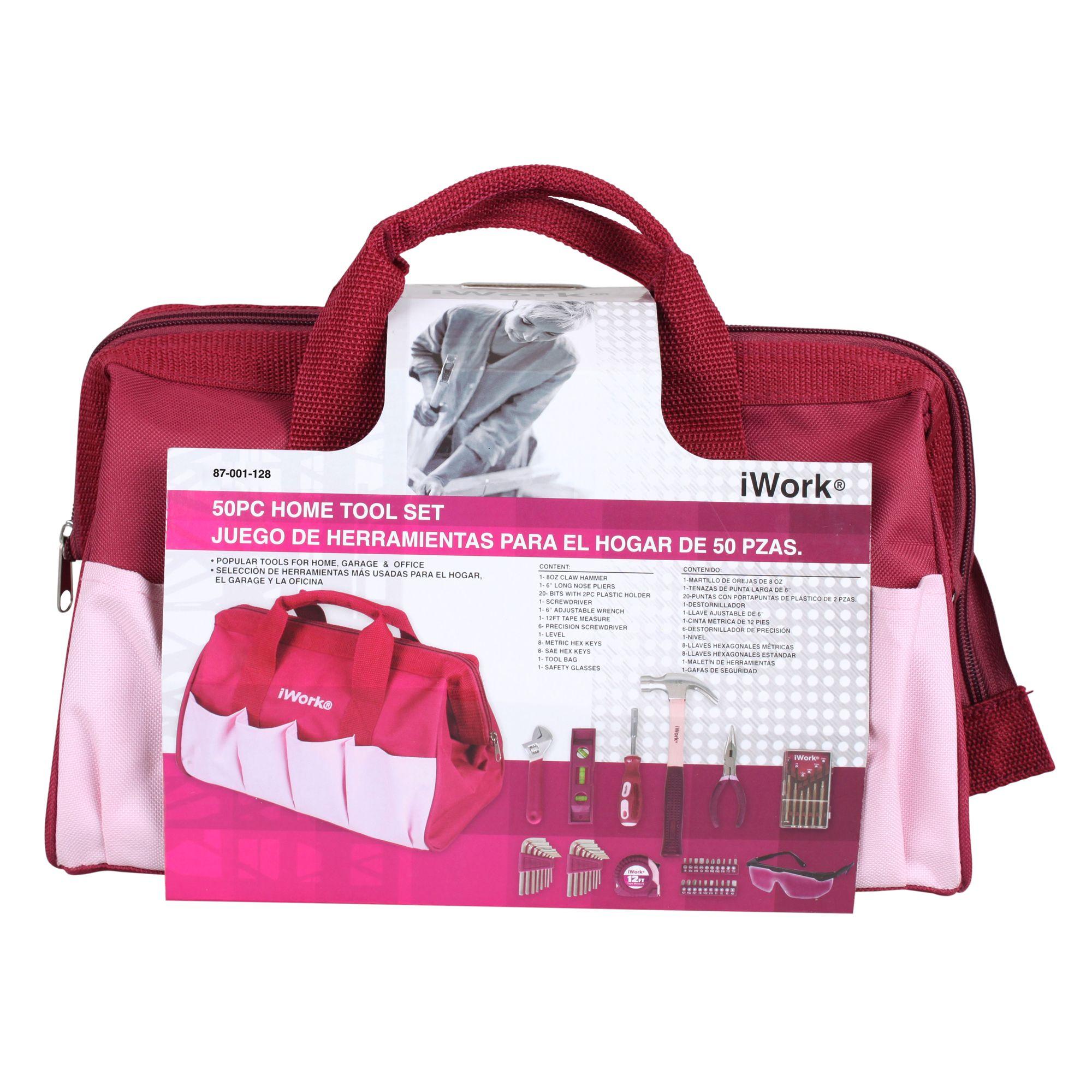 iWork 50-Piece Pink Home Tool Set