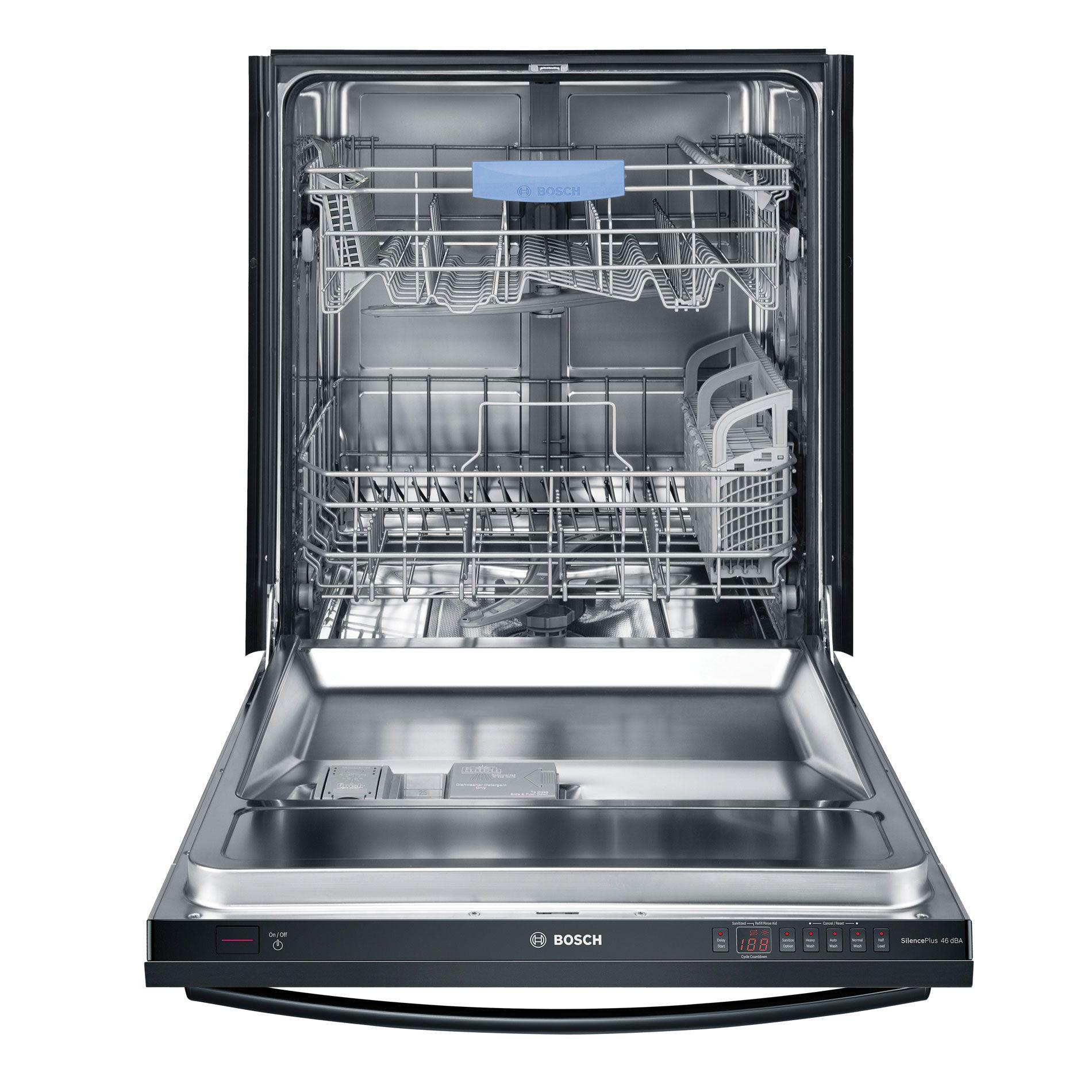 "Bosch 24"" Built-In Dishwasher Black"