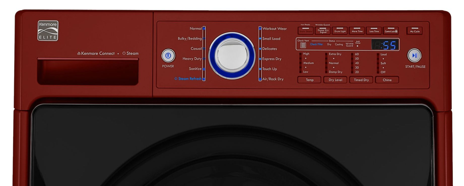 Kenmore Elite 7.4 cu. ft. Steam Dryer - Chili Pepper