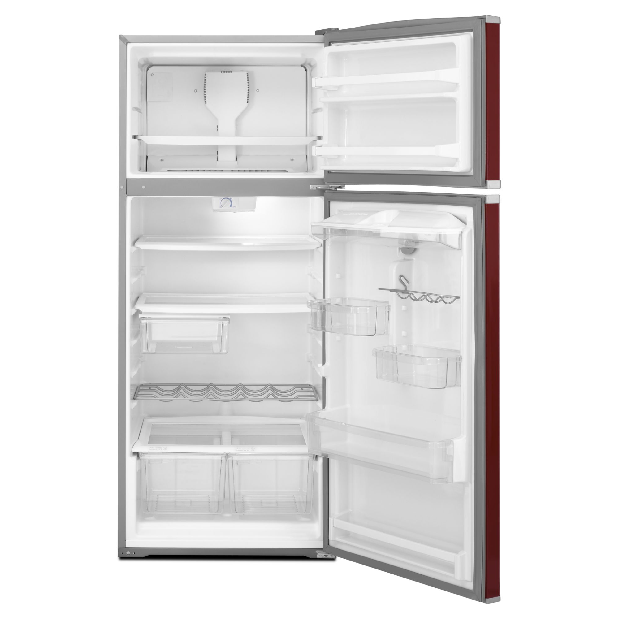 Amana 17.6 cu. ft. Top-Freezer Refrigerator w/ Exterior Beverage Dispenser - Red