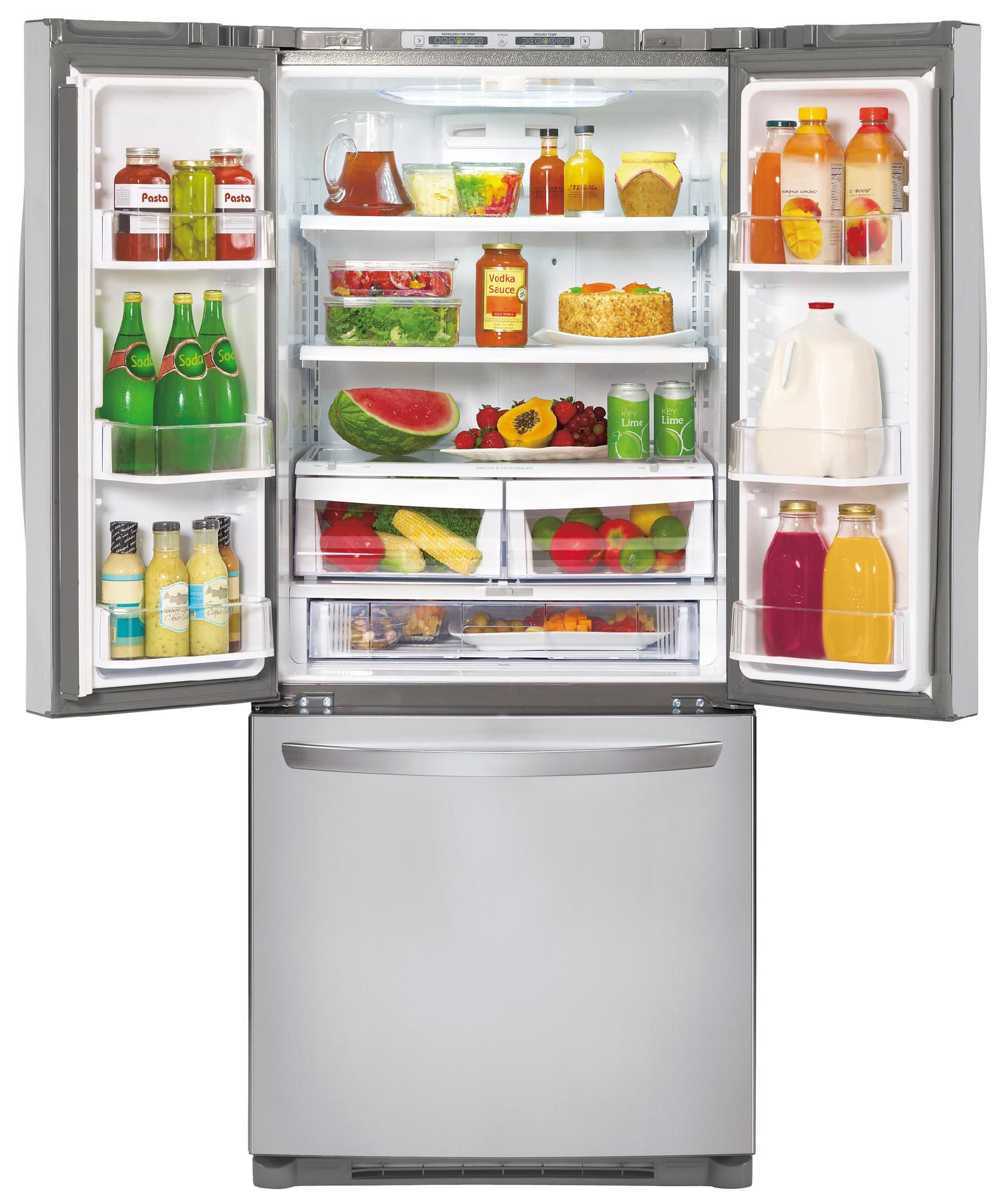 LG 19.7 cu. ft.  French Door Bottom-Freezer Refrigerator - Stainless Steel