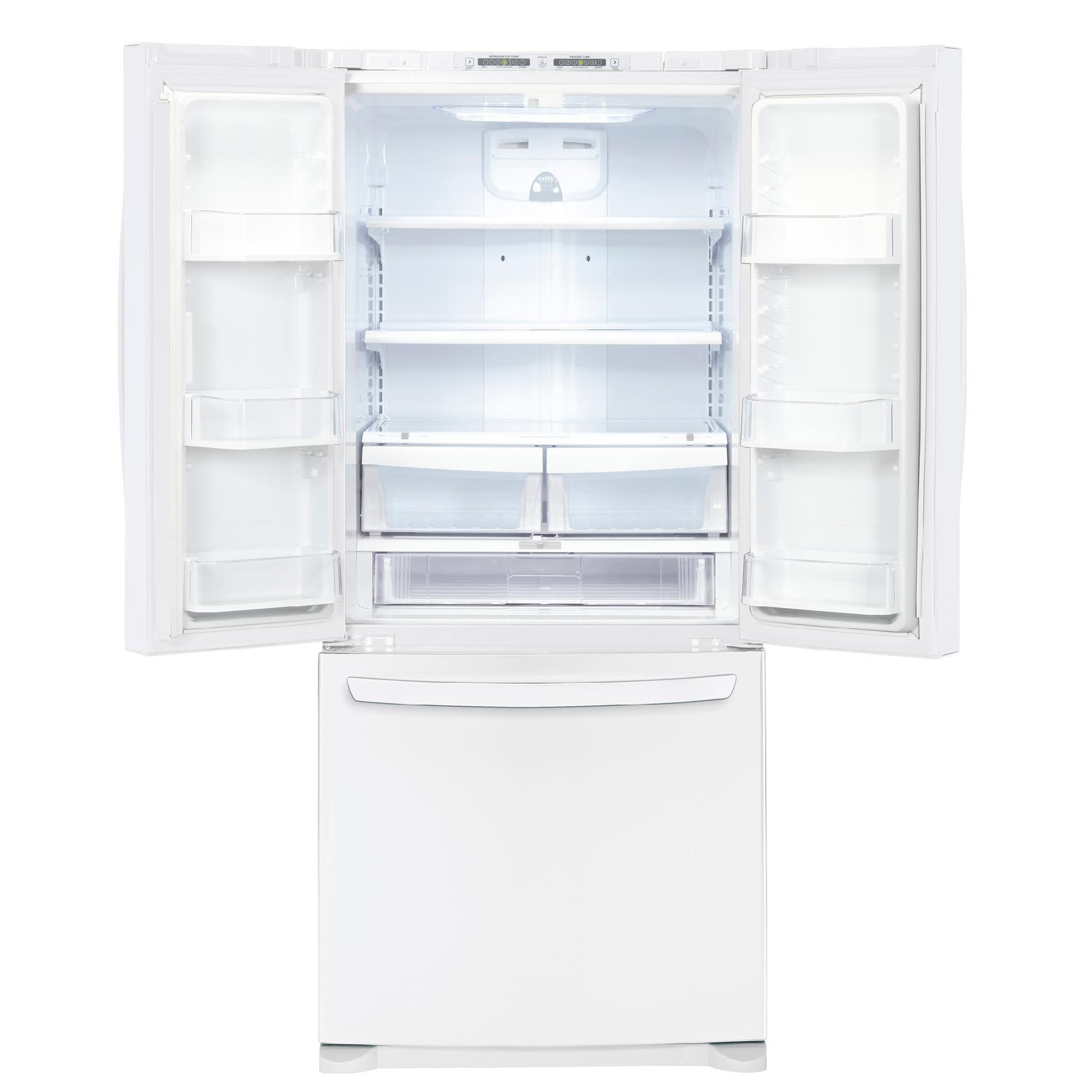 LG 19.7 cu. ft. French-Door Bottom-Freezer Refrigerator, White (LFC20770SW)