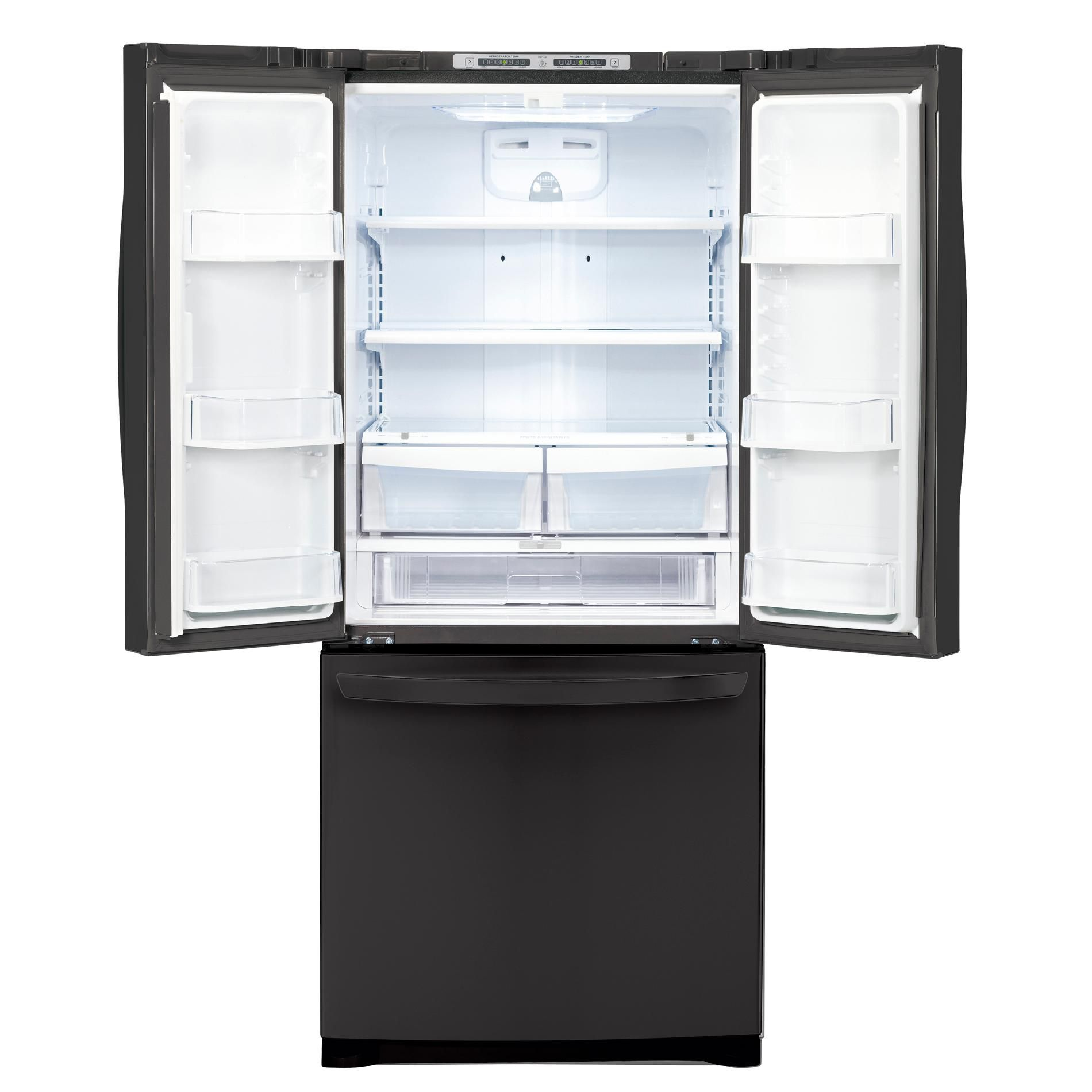 LG 19.7 cu. ft. French-Door Bottom-Freezer Refrigerator, Black (LFC20770SB)