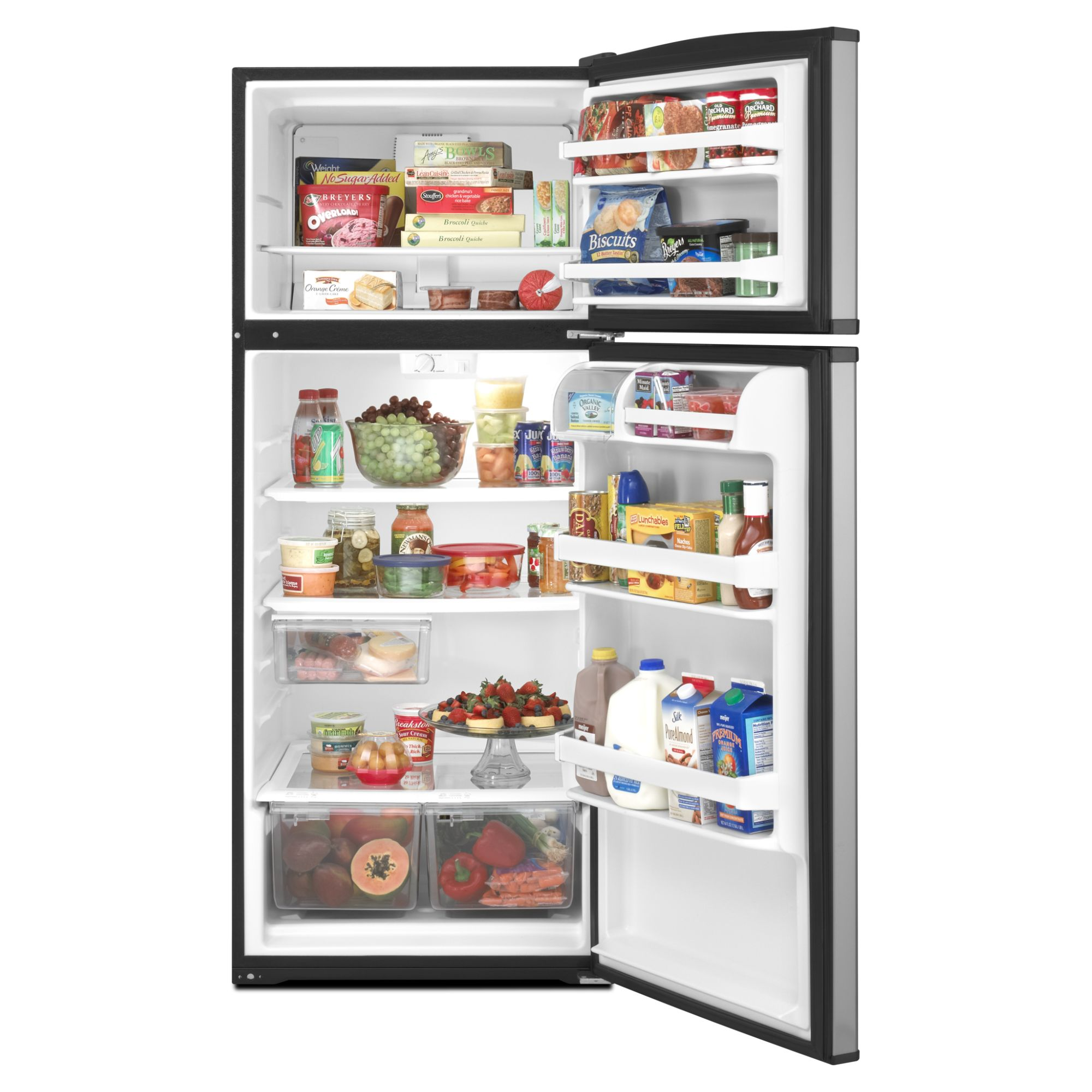 Amana 17.6 cu. ft. Top-Freezer Refrigerator  -  Stainless Steel Look