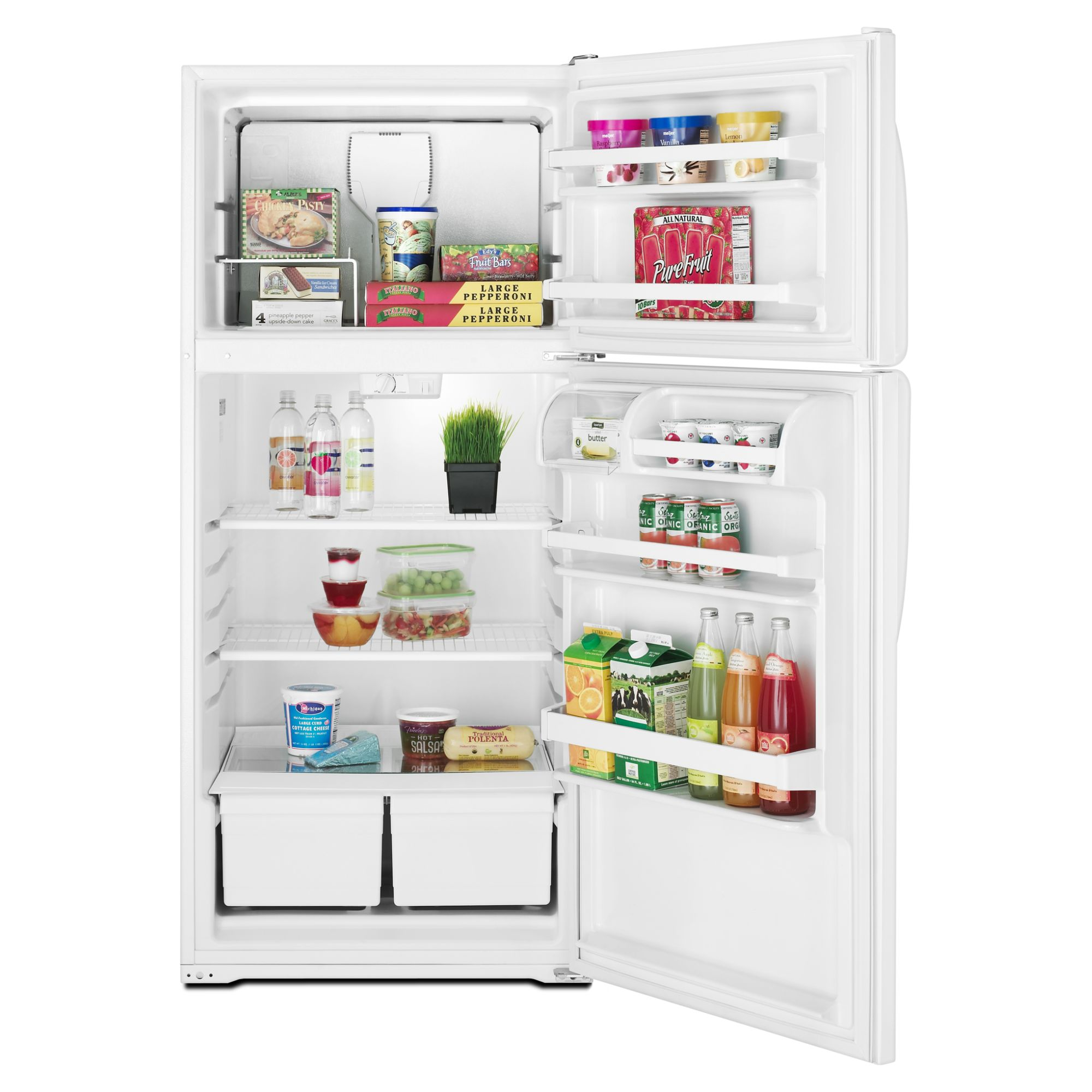 Amana 14.4 cu. ft. Top-Freezer Refrigerator - White