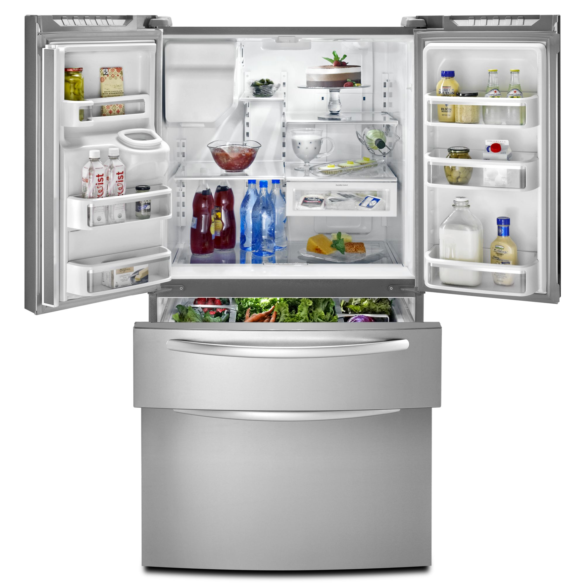 KitchenAid 25.0 cu. ft. French-Door Refrigerator w/ FreshVue™ Drawer - Stainless Steel