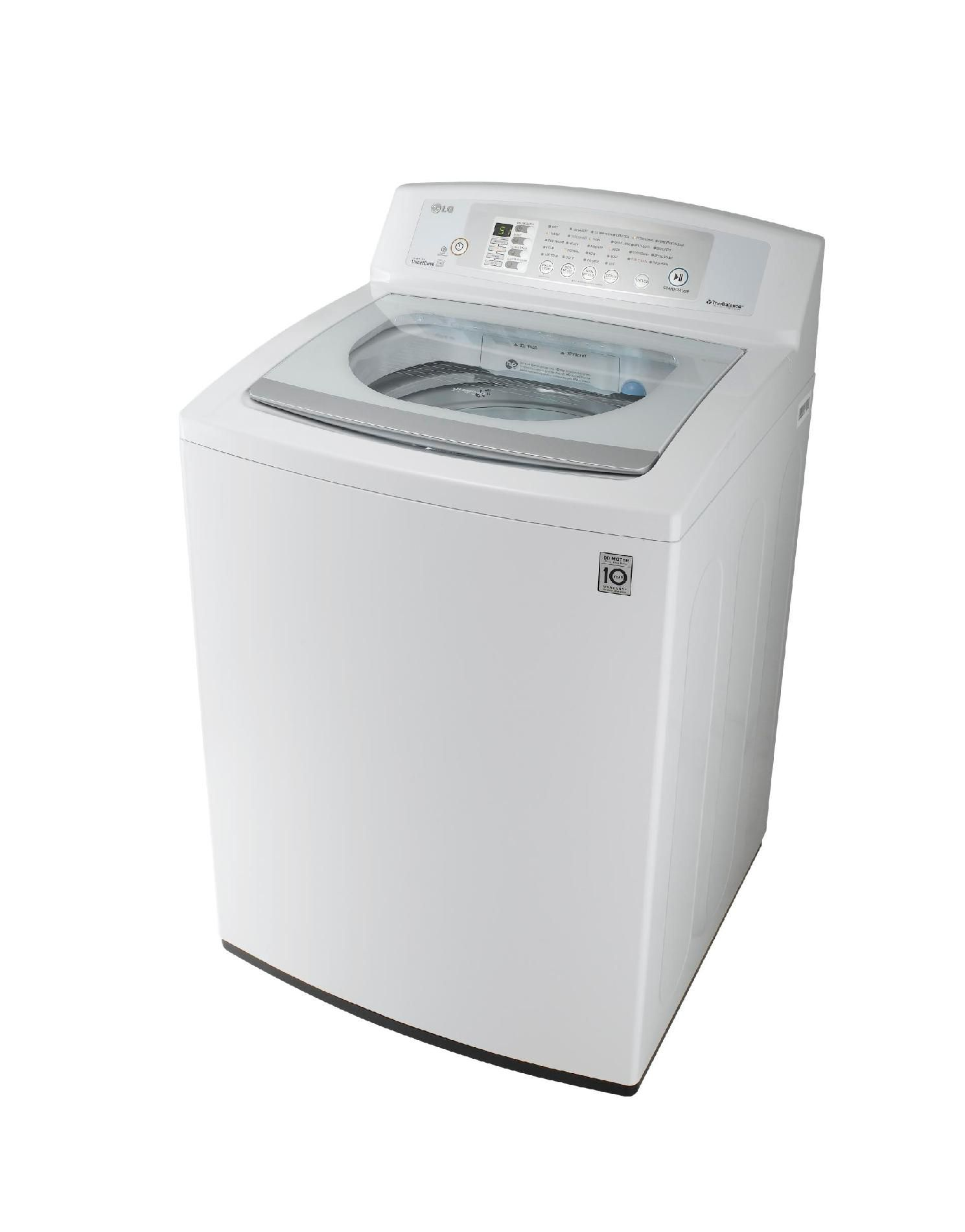 LG 3.7 cu. ft. High-Efficiency Top-Load  Washer - White