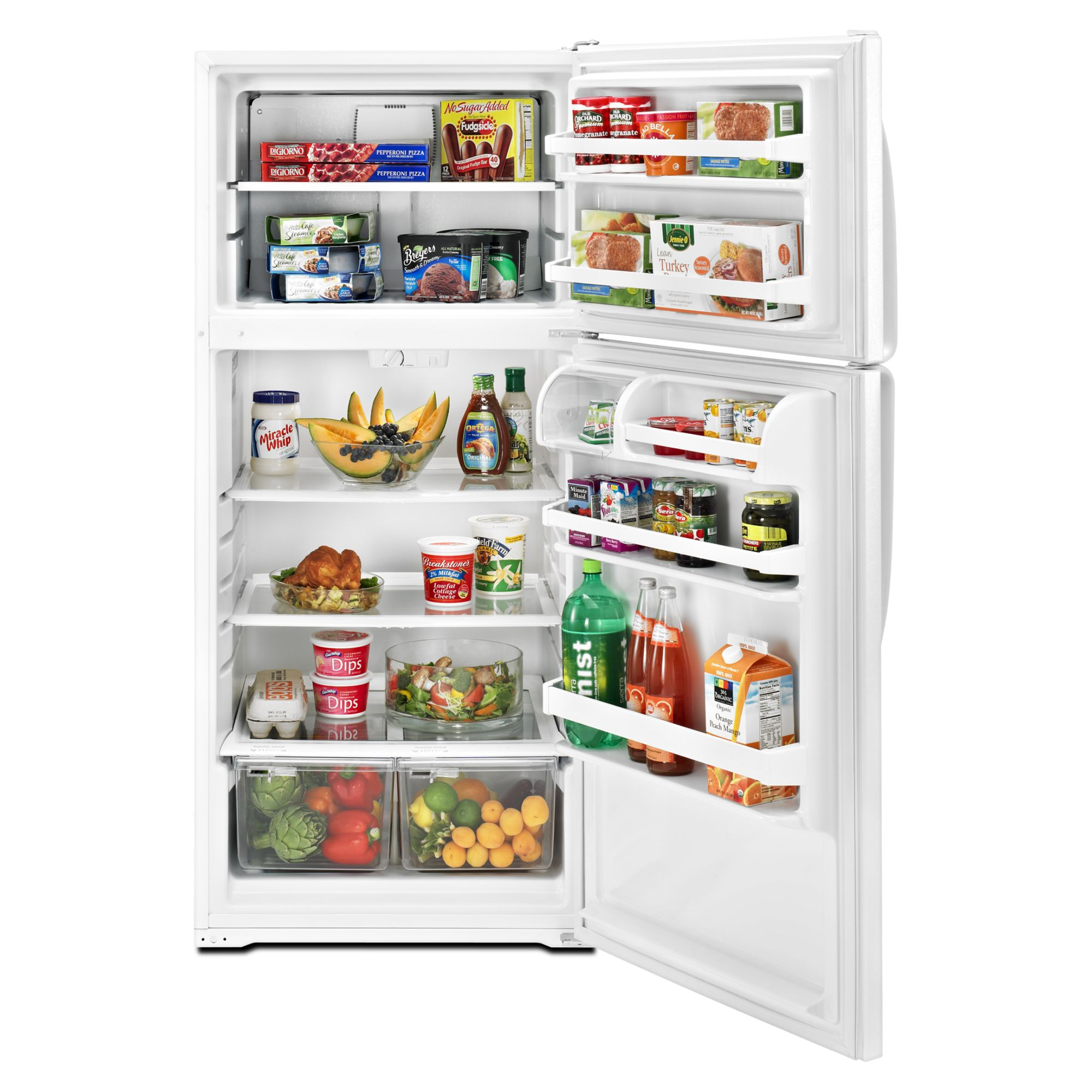 Whirlpool 14.4 cu. ft. Top-Freezer Refrigerator - White