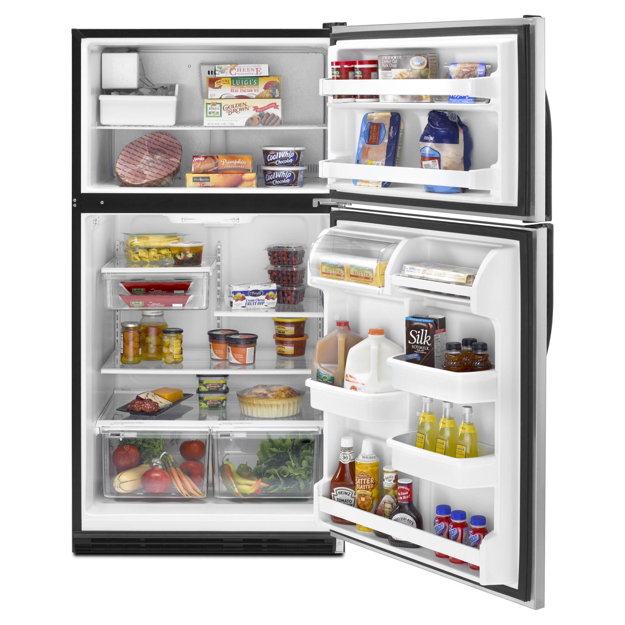 Whirlpool 20.9 cu. ft. Top-Freezer Refrigerator - Stainless Steel