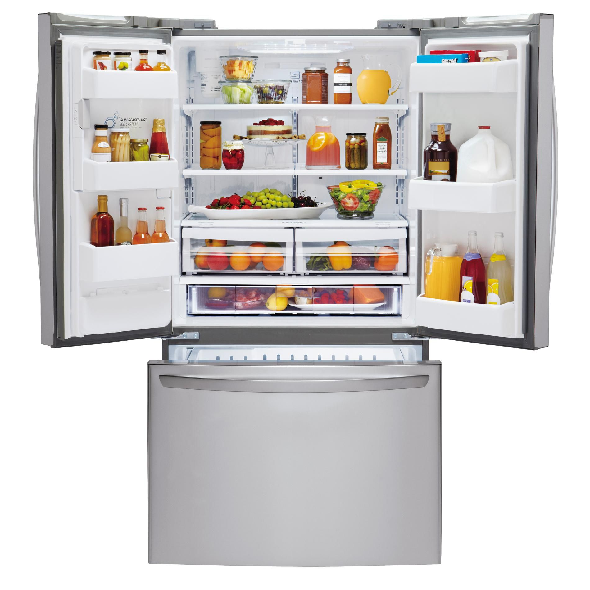 LG 24.7 cu. ft. French-Door Bottom-Freezer Refrigerator - Stainless Steel