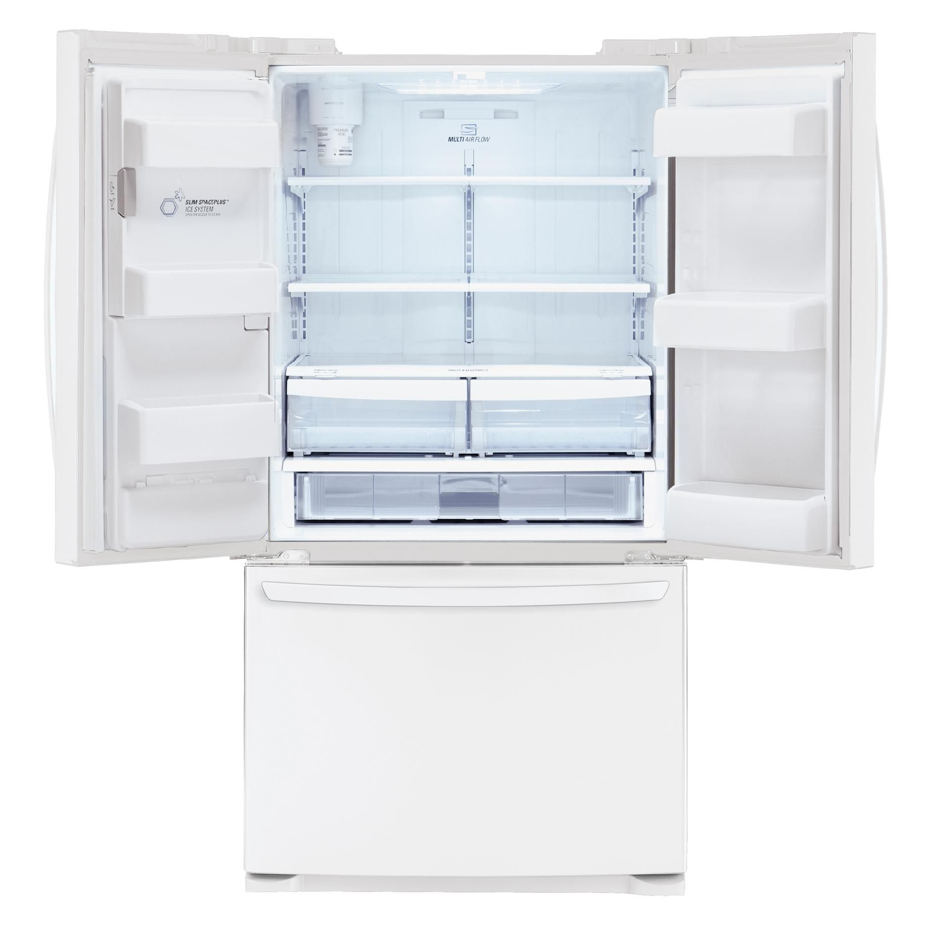 LG LFX25974SW 24.7 cu. ft. White French Door Bottom-Freezer Refrigerator w/ Smart Cooling Technology