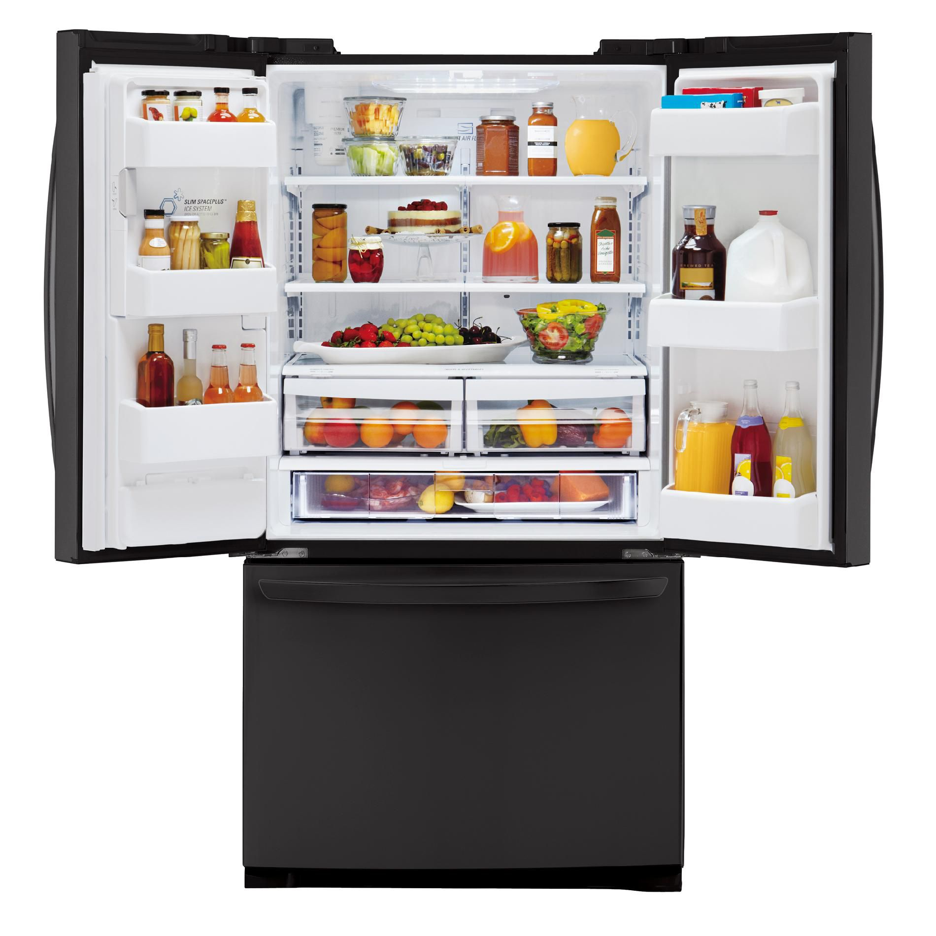LG 24.7 cu. ft.  French Door Bottom-Freezer Refrigerator w/ Smart Cooling Technology - Black