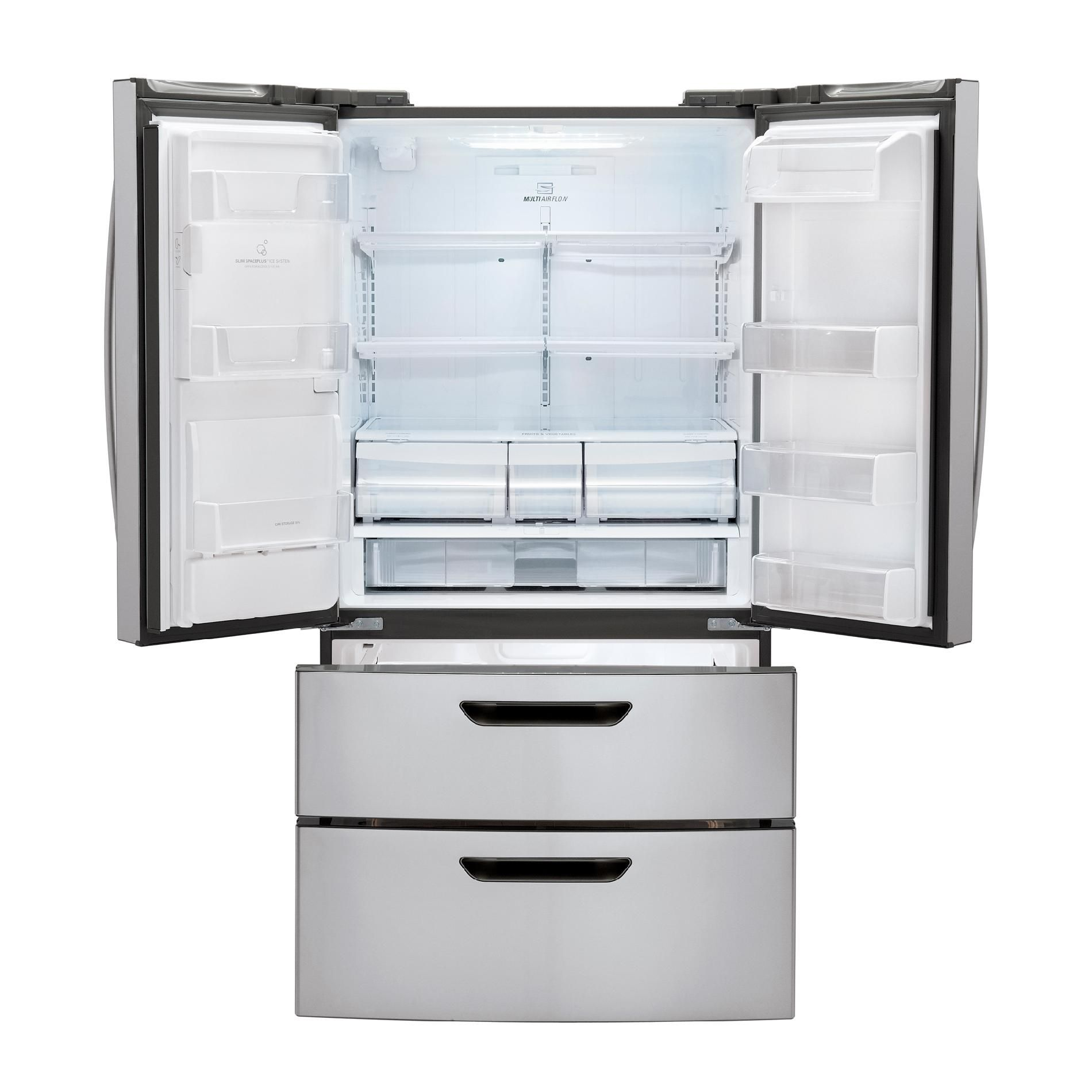 LG 24.7 cu. ft. French-Door Bottom-Freezer Refrigerator with Double Freezer Drawers, Stainless Steel