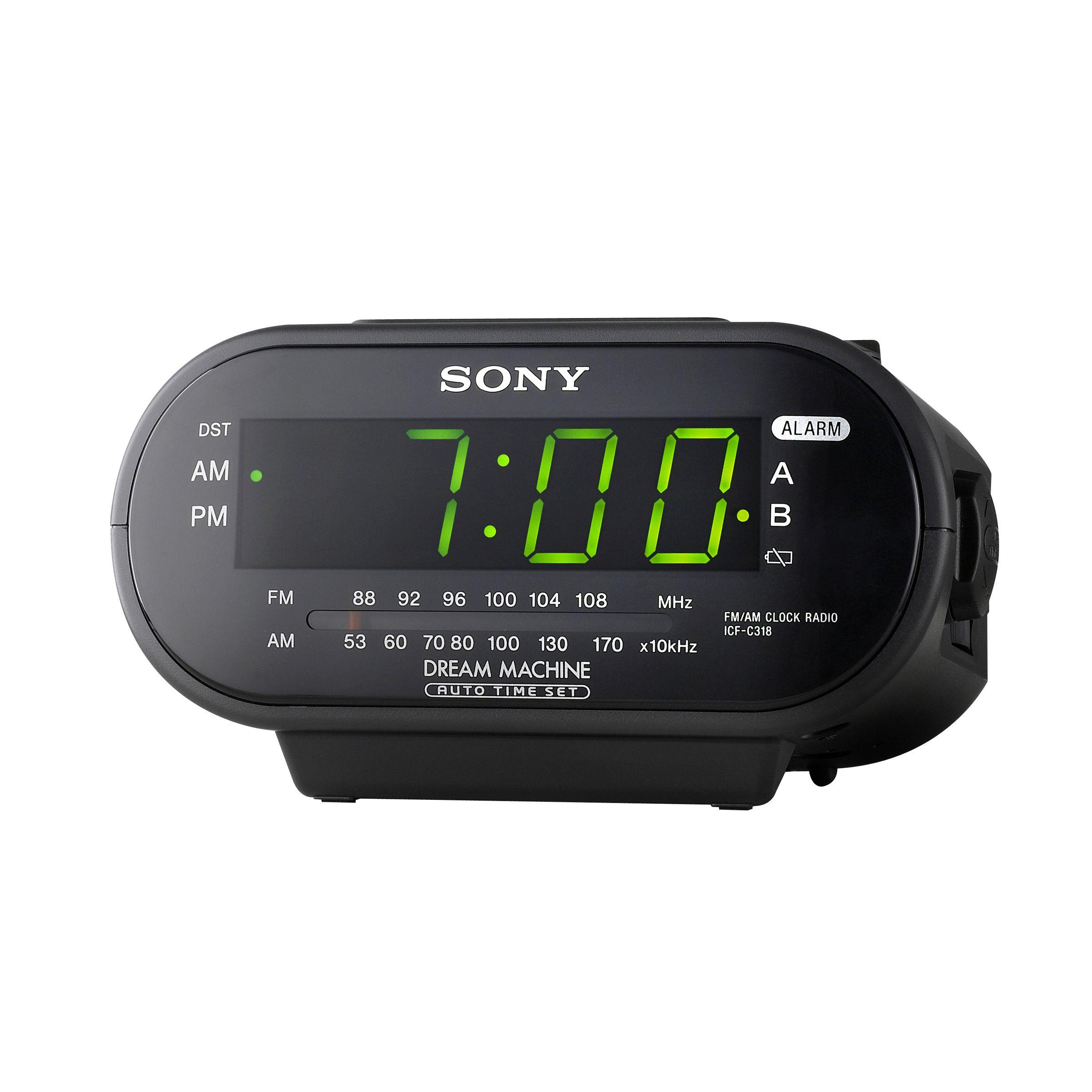 Sony Dream Machine Clock Radio, FM/AM, Black, 1 radio