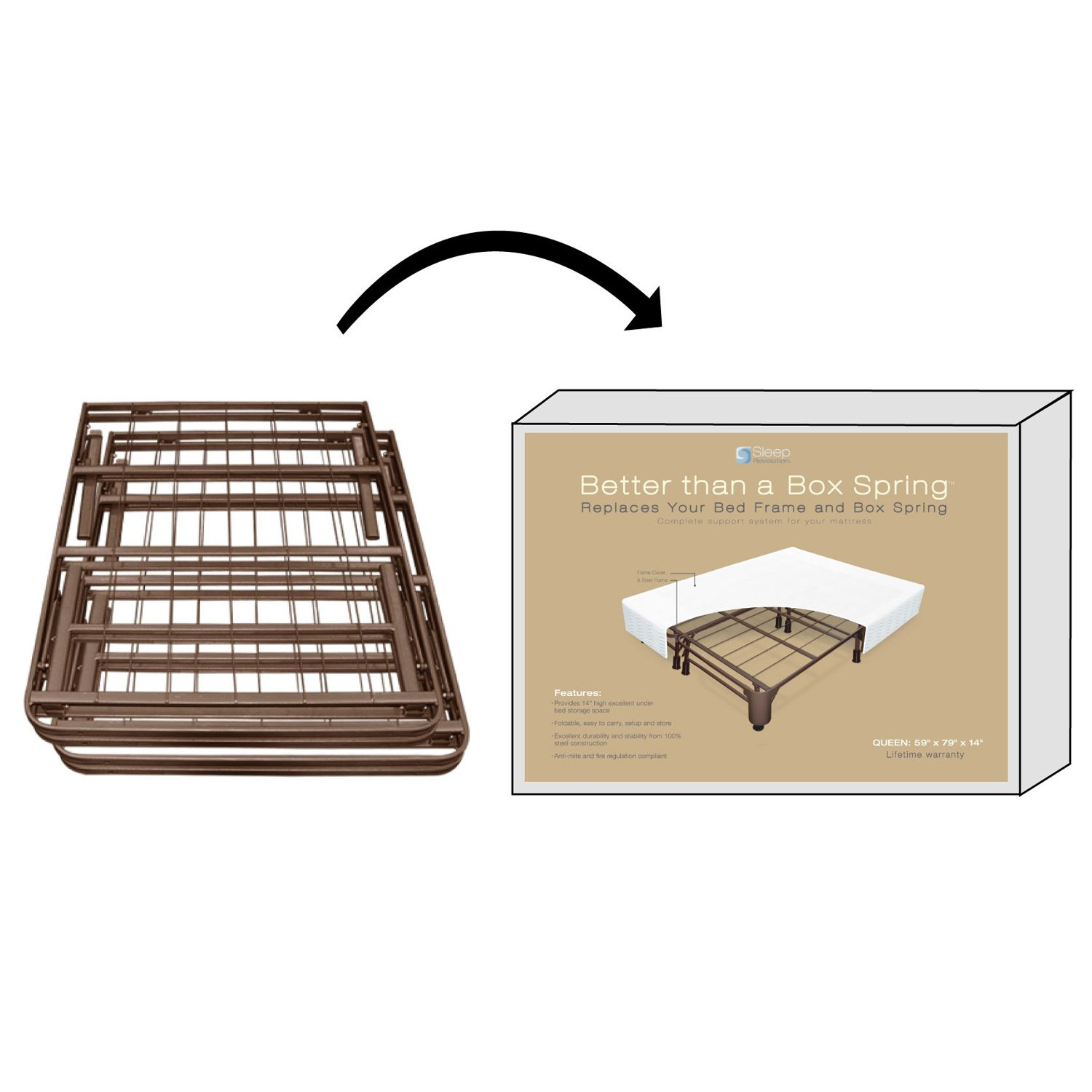 Night Therapy BoxFree Better Than a Box Spring Full Mattress Foundation