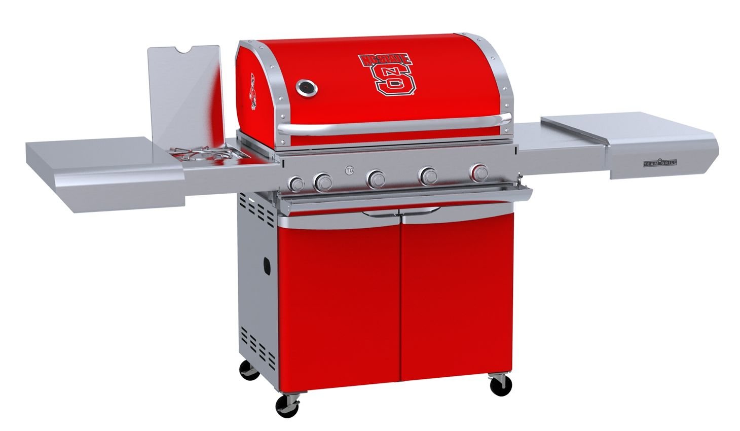 Team Grill Patio MVP 3 Burner Gas Grill - Nc State Wolfpack