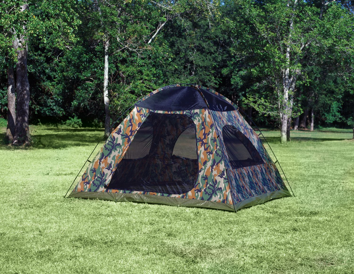 Texsport Tent, Headquarters Camouflage Square Dome Tent