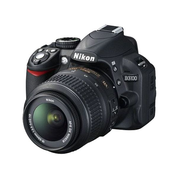 Nikon D3100 - Digital camera - SLR - 14.2 MP - 3 x optical zoom AF-S VR DX 18-55mm lens