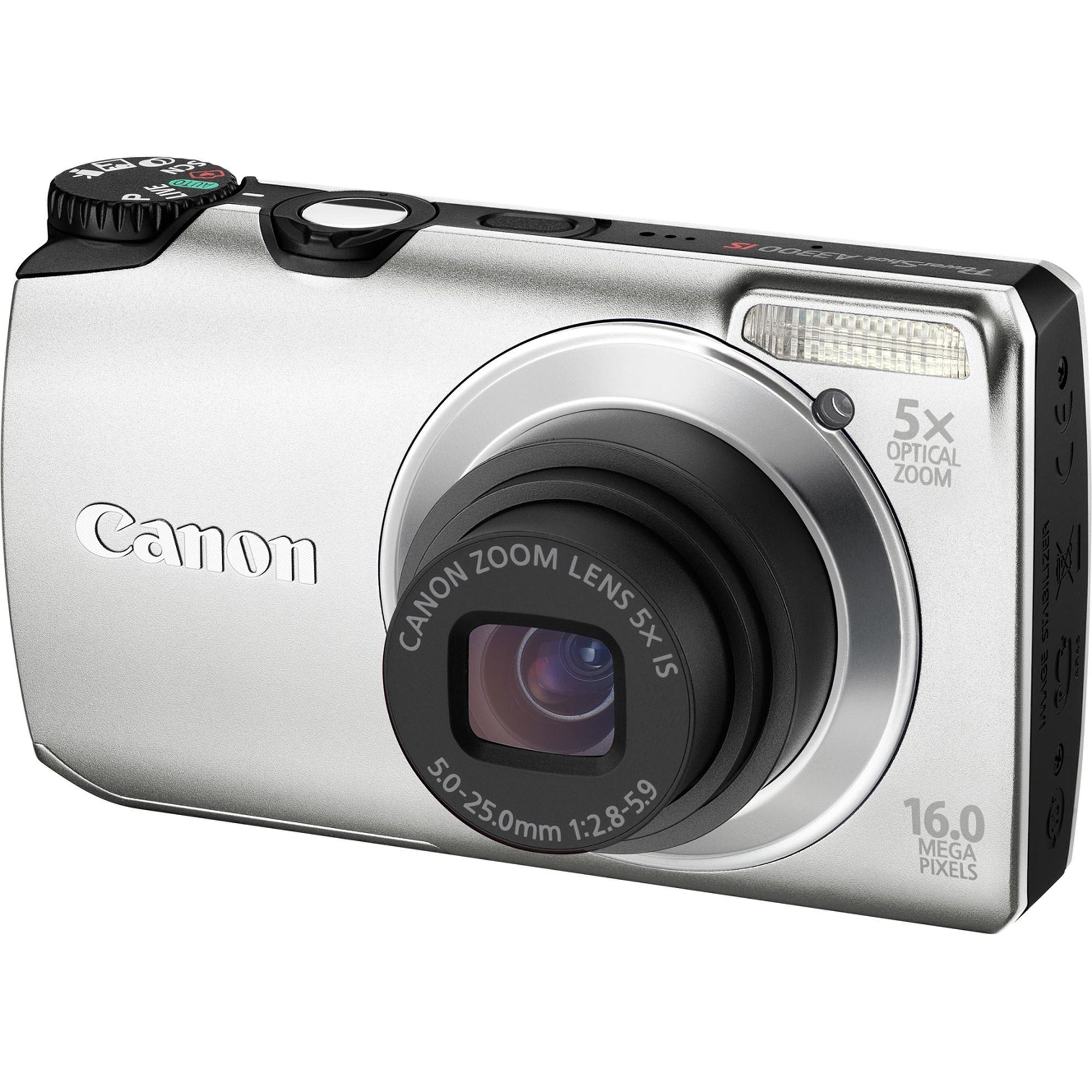 Canon PowerShot A3300 IS 16 Megapixel Digital Camera- Silver