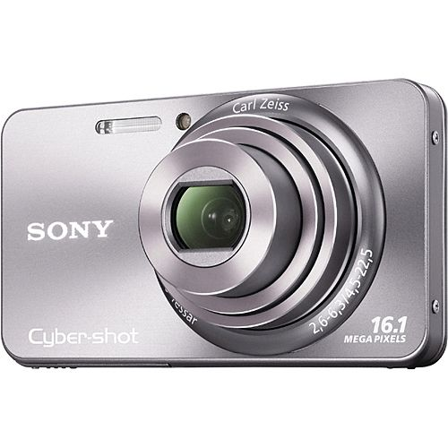 Sony Cyber-shot DSC-W570 - Digital camera - compact - 16.1 MP - 5 x optical zoom - silver