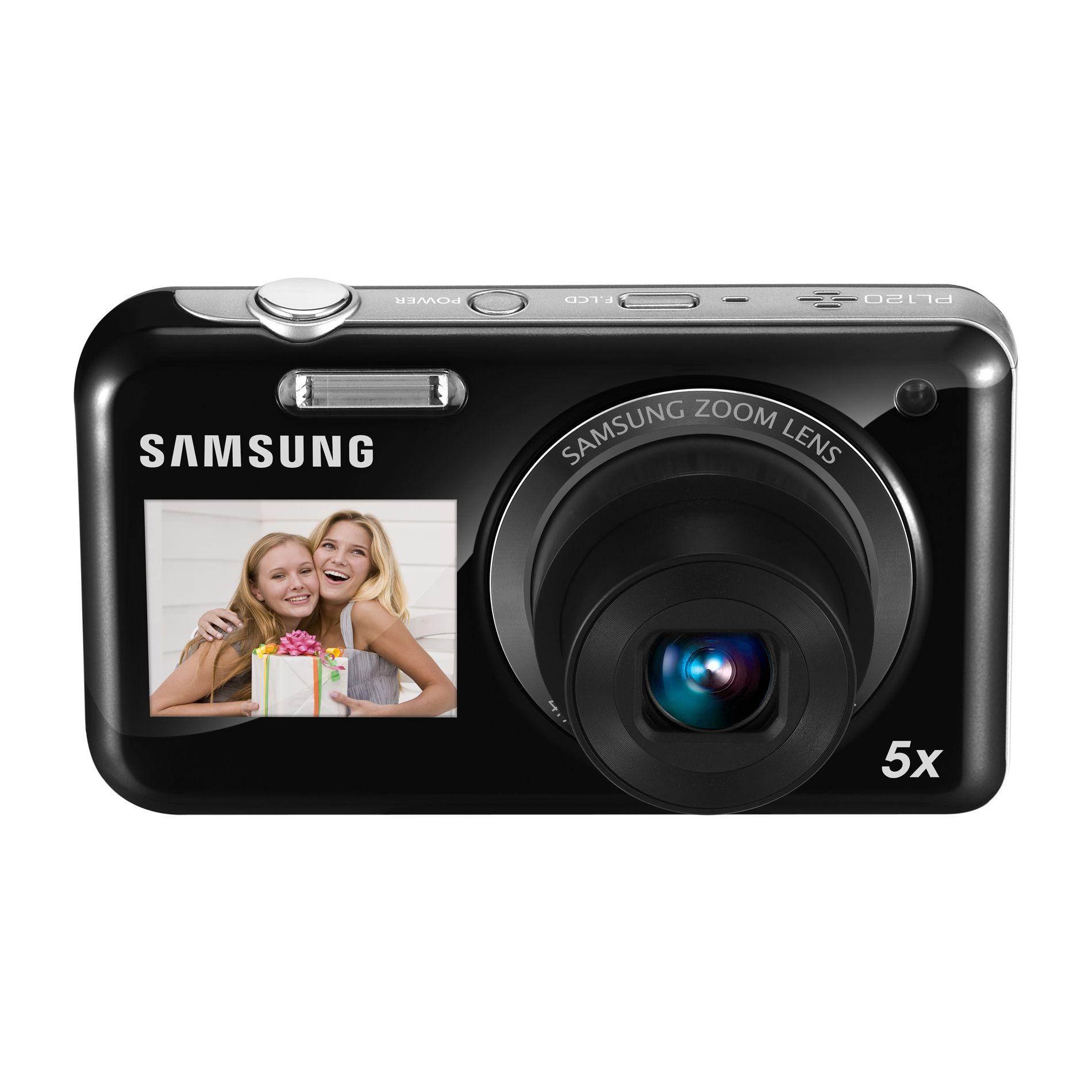 Samsung PL120 DualView 14.2 Megapixel Digital Camera- Black