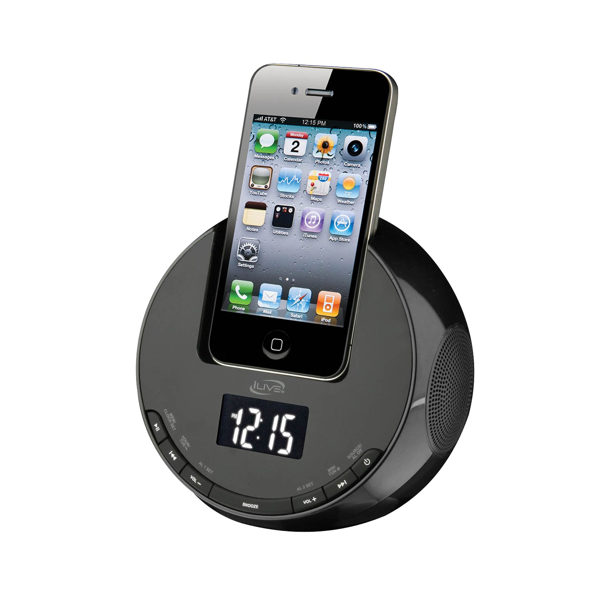 iLive Clock Radio for iPhone/iPod