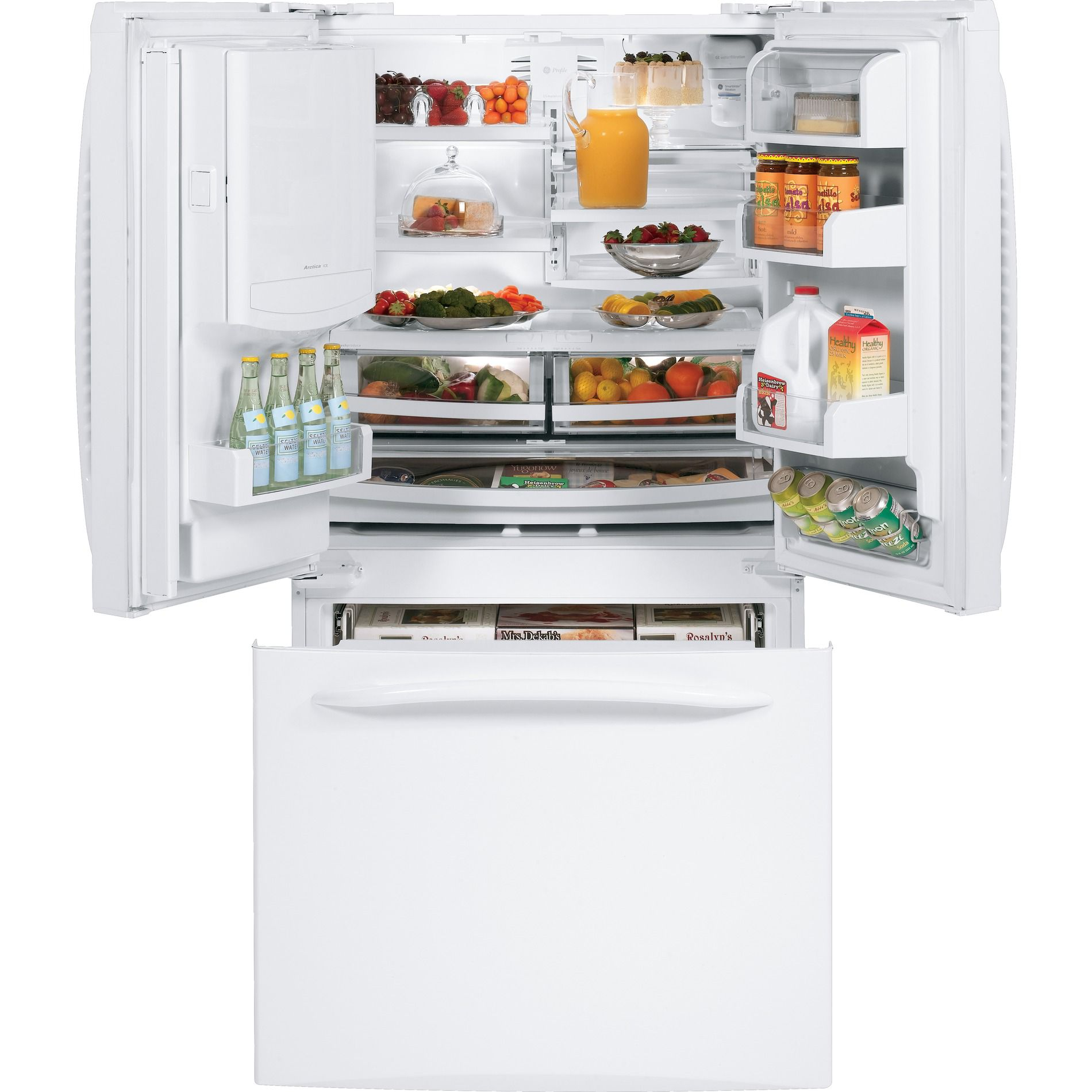 GE Profile™ Series 20.7 cu. ft. French Door Bottom-Freezer Refrigerator - White