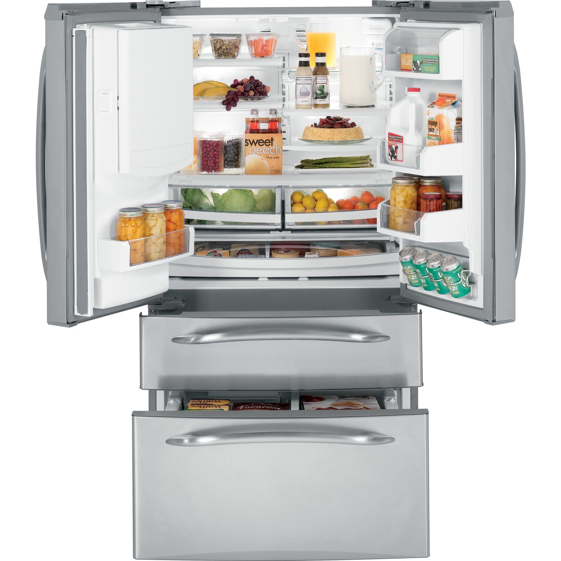 GE Profile™ Series 20.7 cu. ft. French Door Bottom-Freezer Refrigerator - Stainless Steel