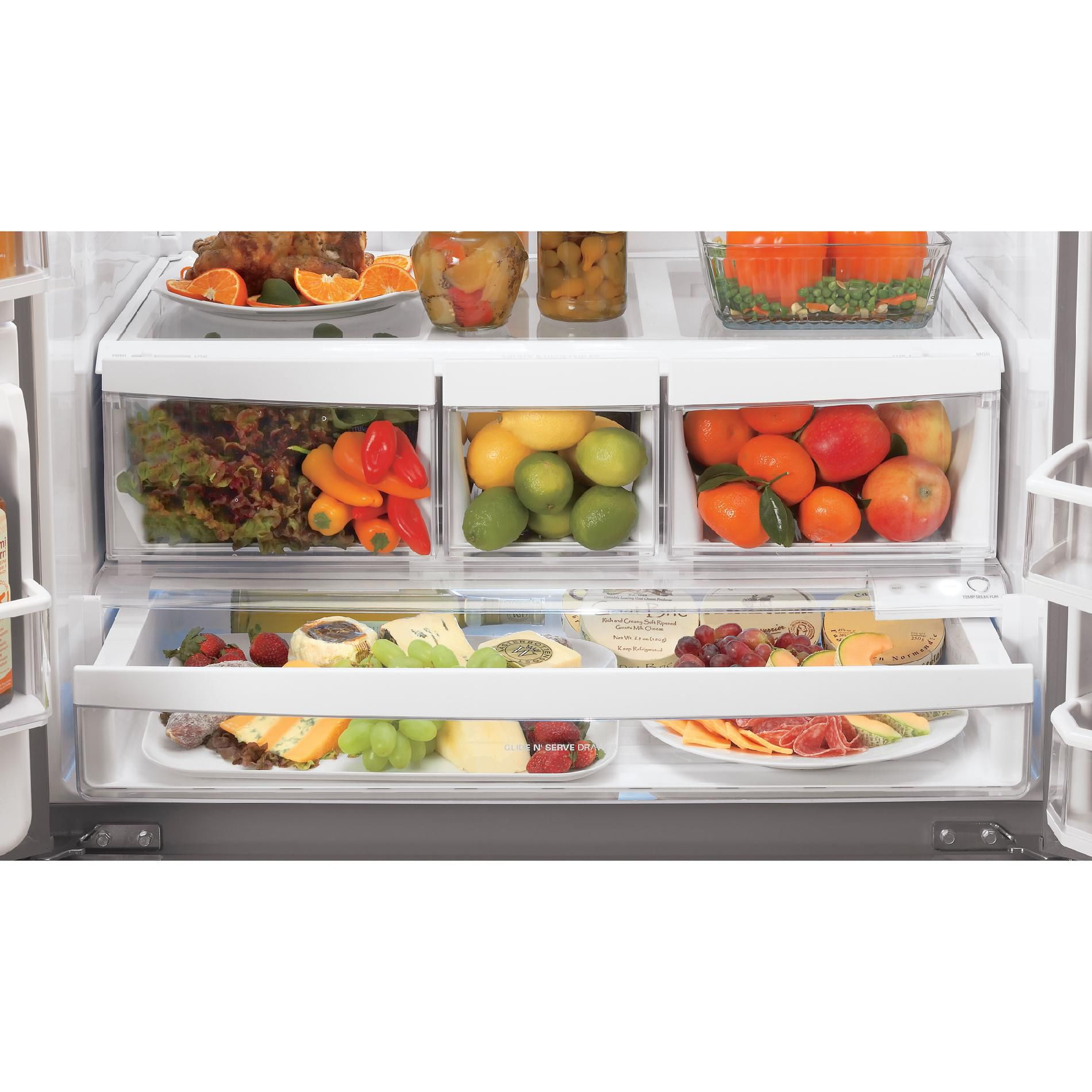 LG 27.6 cu. ft.  French Door Bottom-Freezer Refrigerator w/ Smart Cooling & Dual Ice Makers - Black