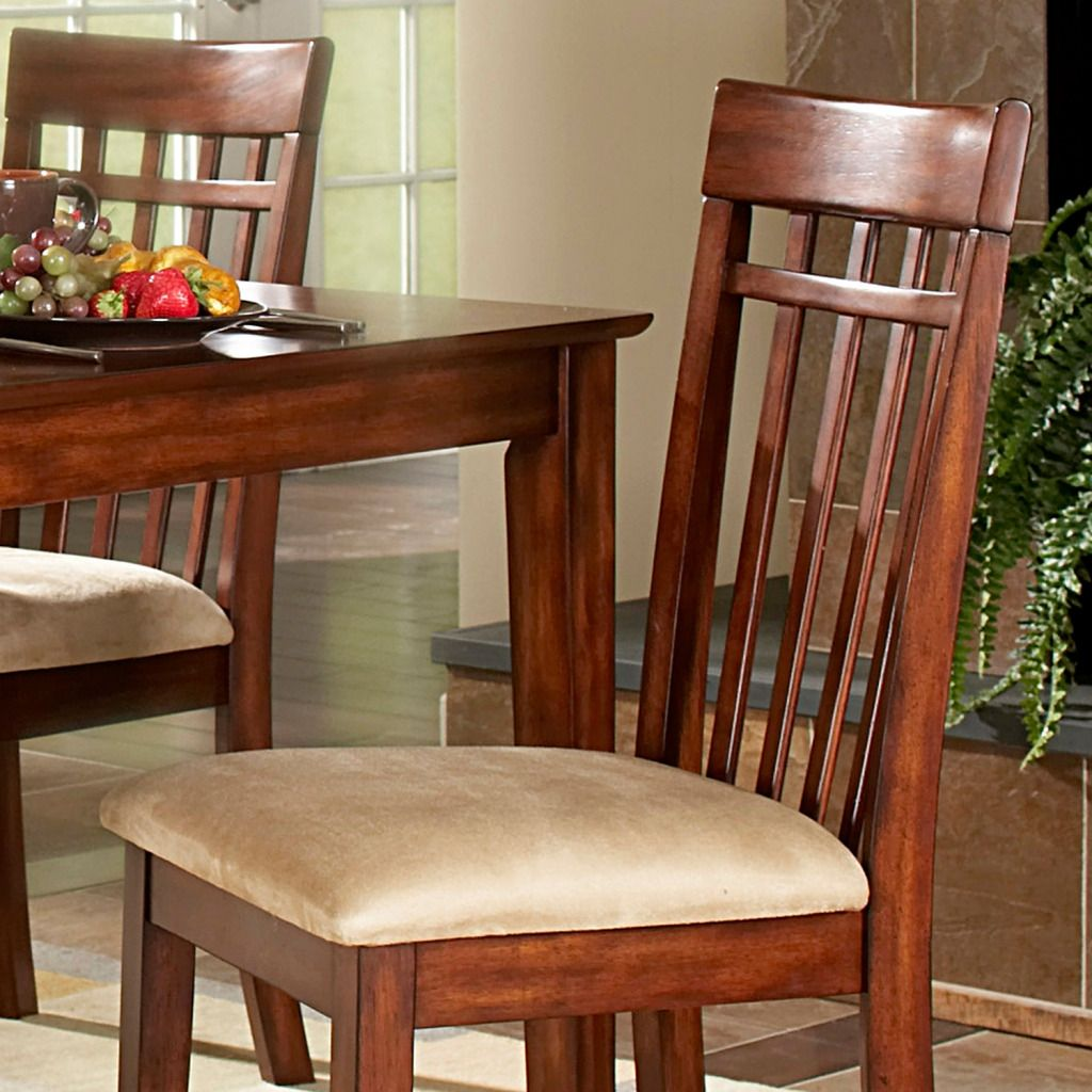 Oxford Creek Dining Chairs in Cherry Finish (Set of 2)