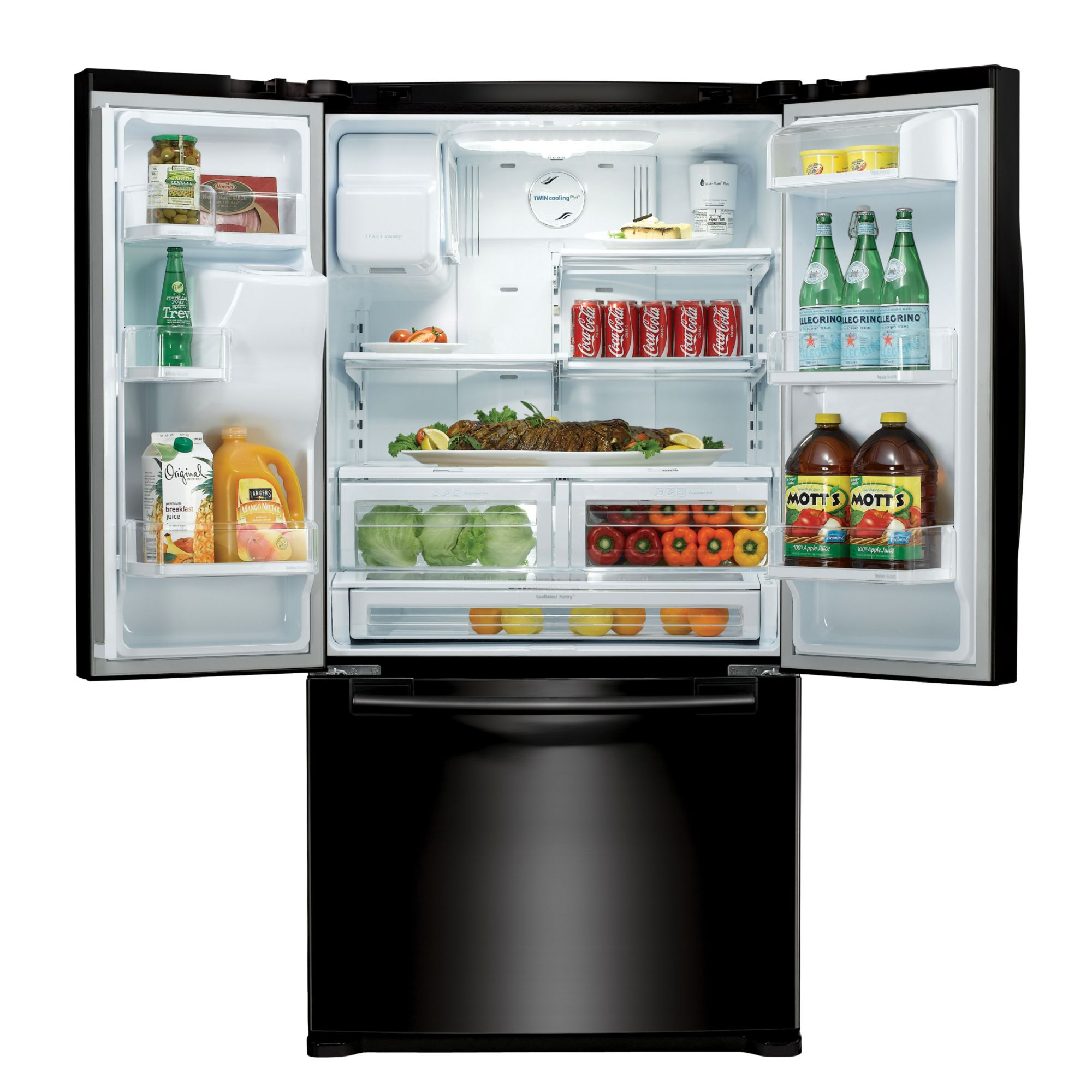 Samsung 23.0 cu. ft. Counter Depth French-Door Refrigerator  -  Black