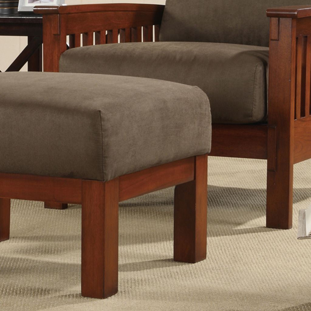 Oxford Creek Chair and Ottoman Set in Oak/Olive Finish