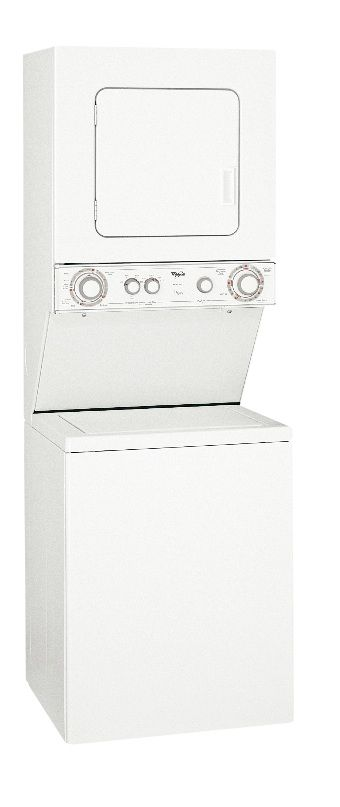 "Whirlpool 24"" Laundry Center w/ Gas Dryer"