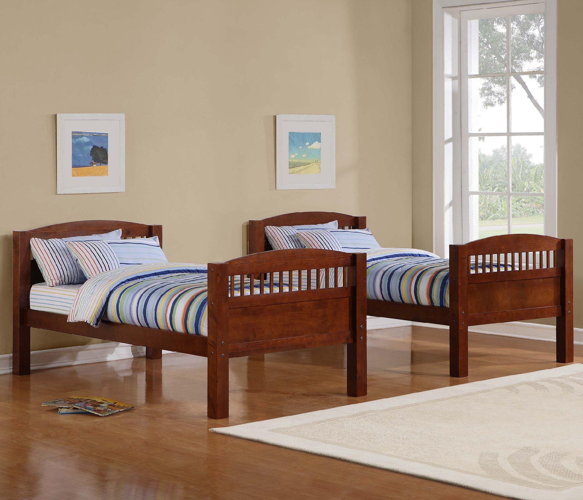 Dorel Home Furnishings Bunk Bed Walnut