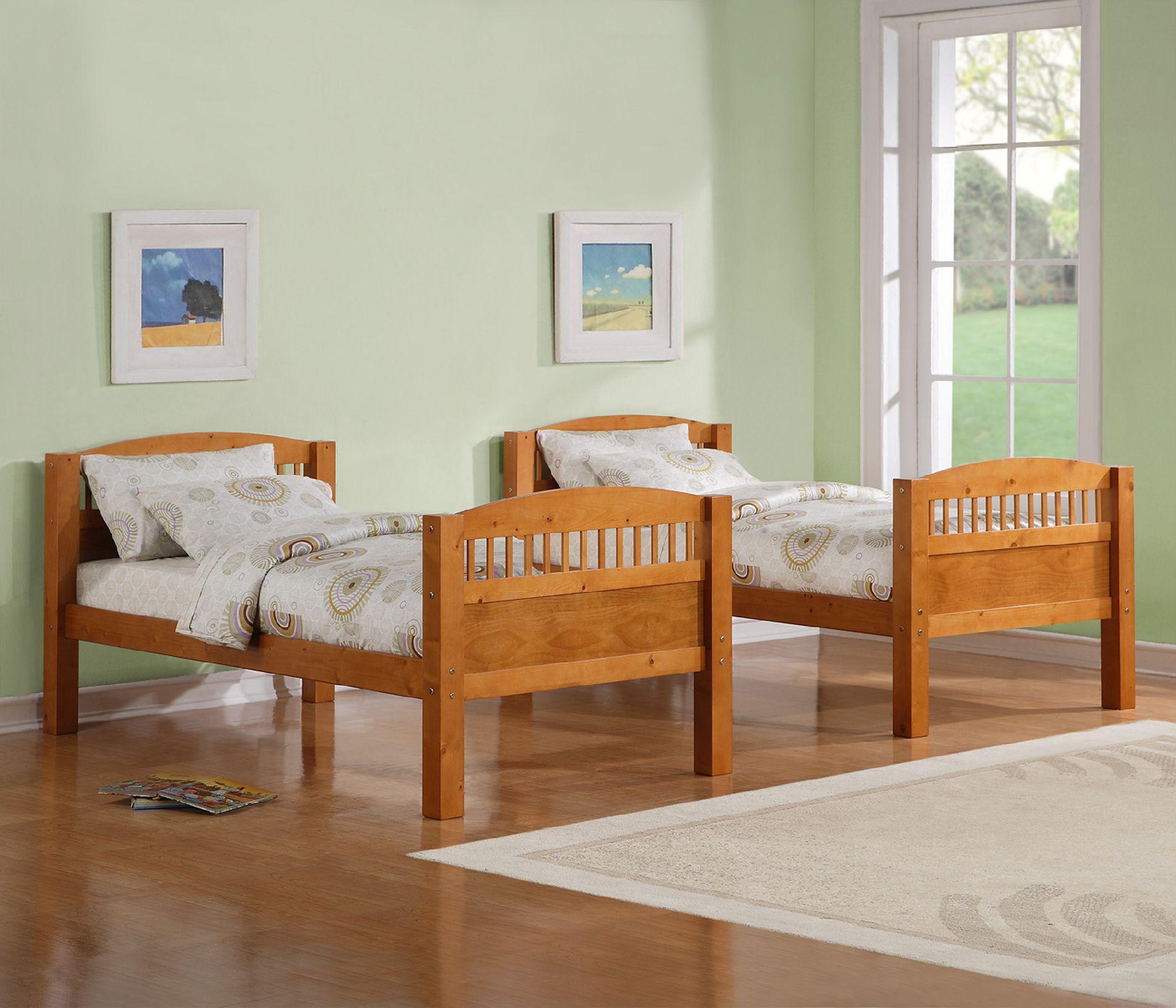 Dorel Home Furnishings Bunk Bed Pine