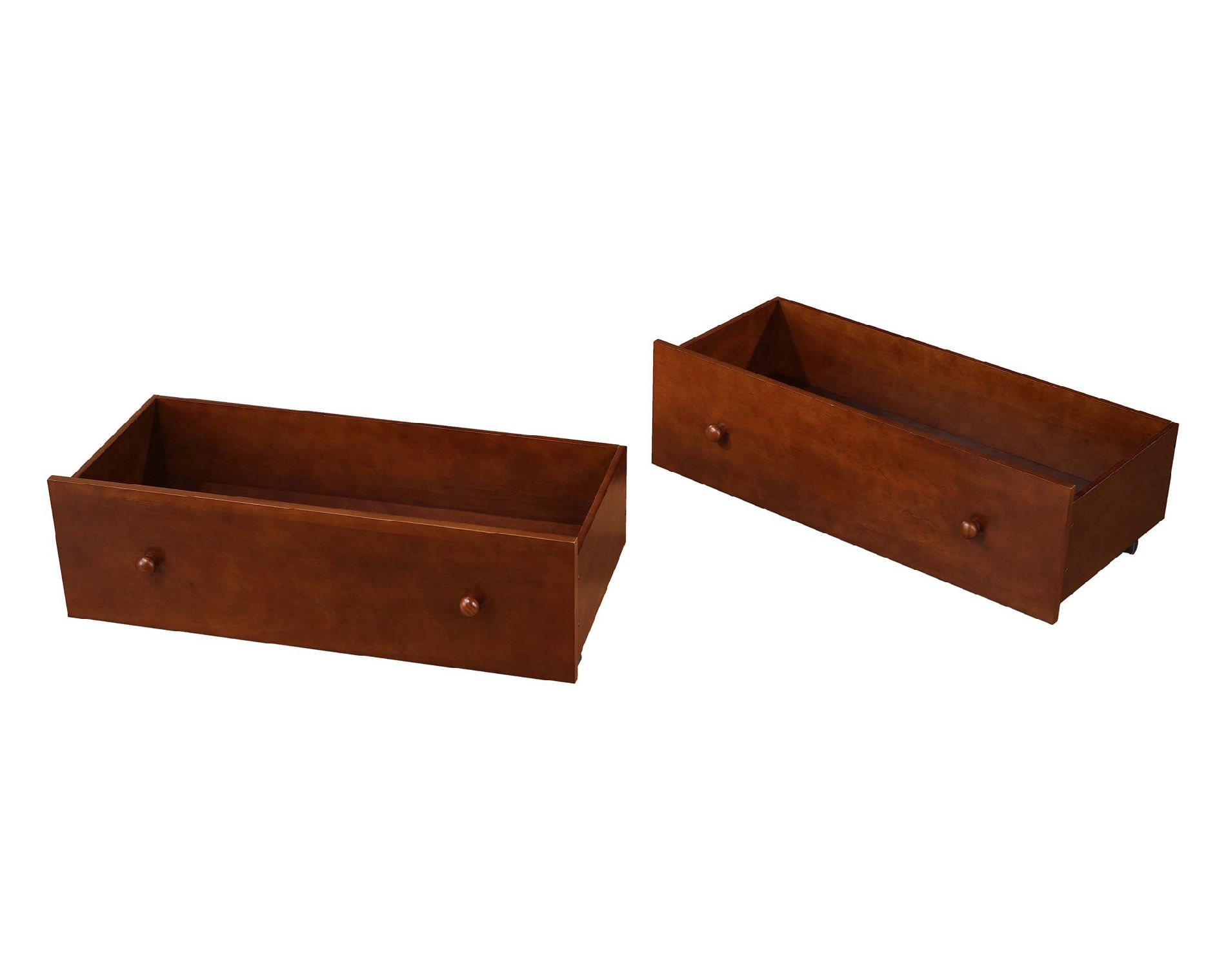 Dorel Home Furnishings Walnut 2 Pack Underbed Storage Drawers