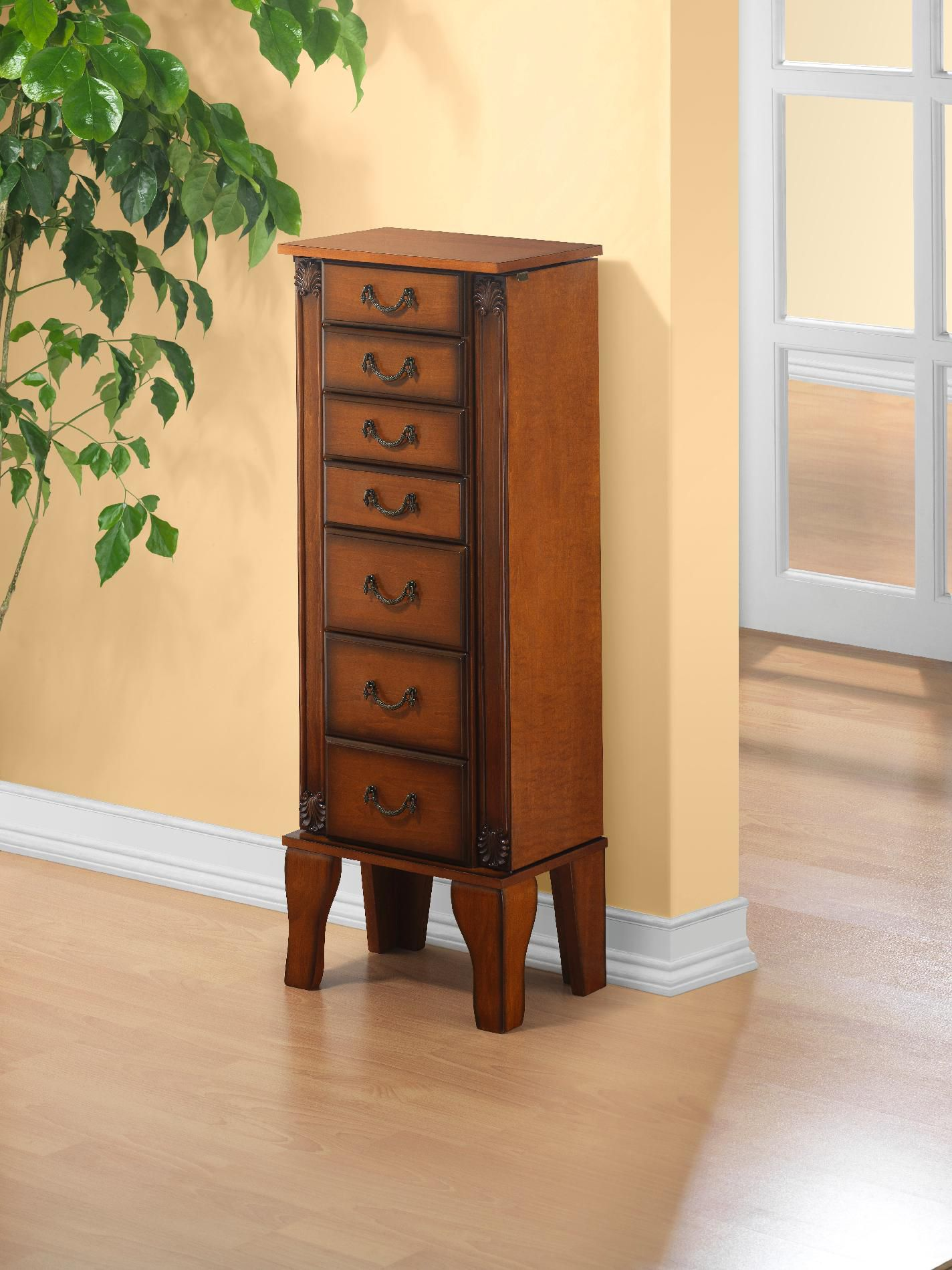 Powell Furniture Mid Antique Walnut Jewelry Armoire