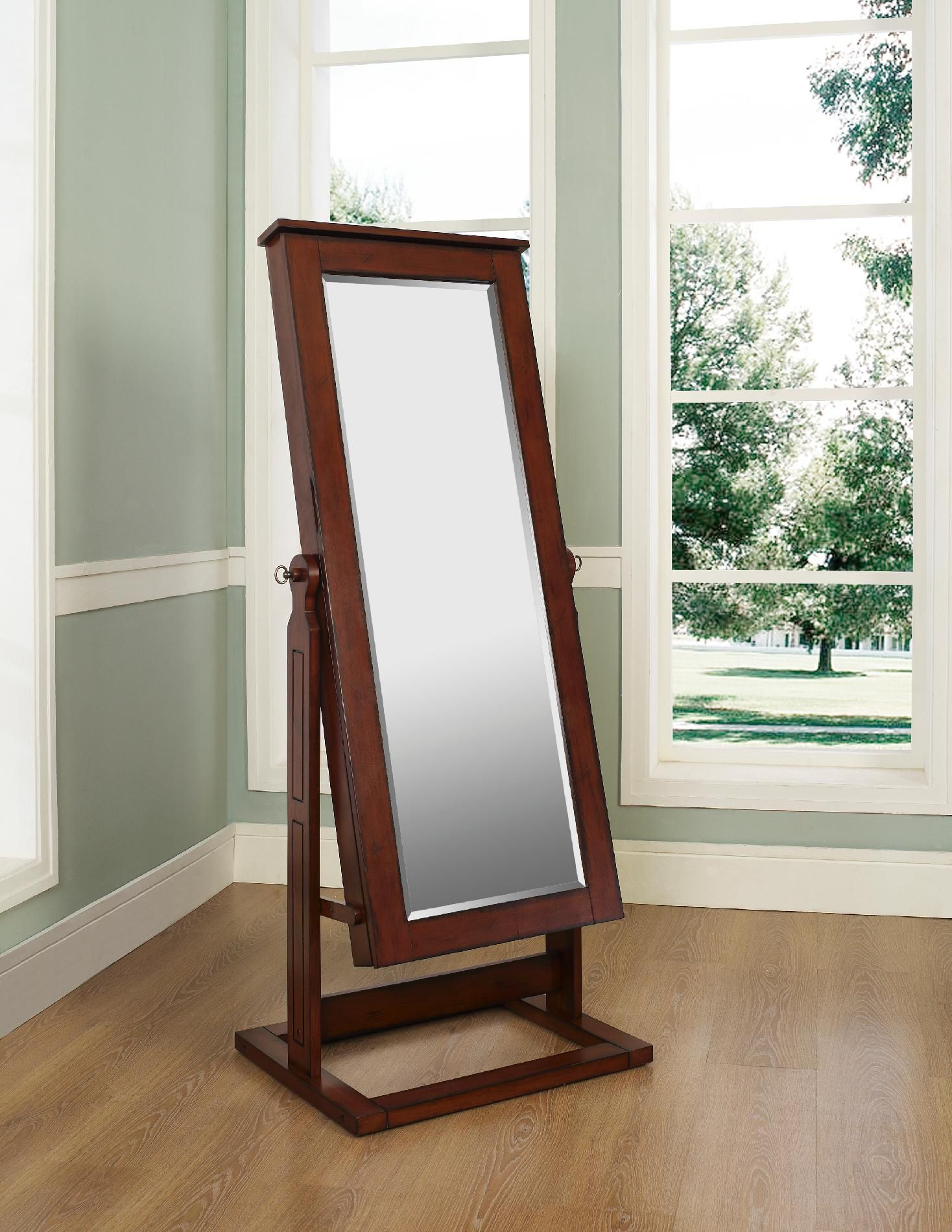 Cheval Espresso Jewelry Mirror