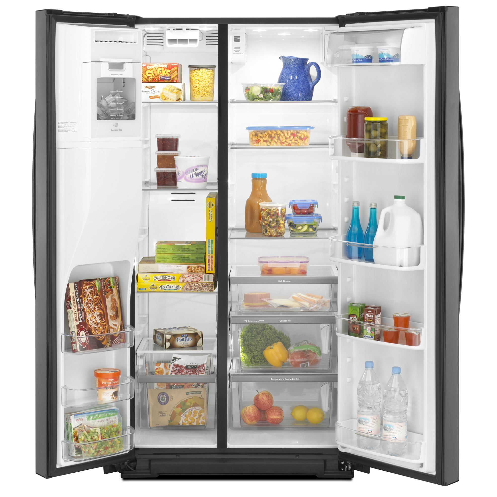 Kenmore Elite 24.6 cu. ft. Side-by-Side Refrigerator w/ Measured Fill - Black