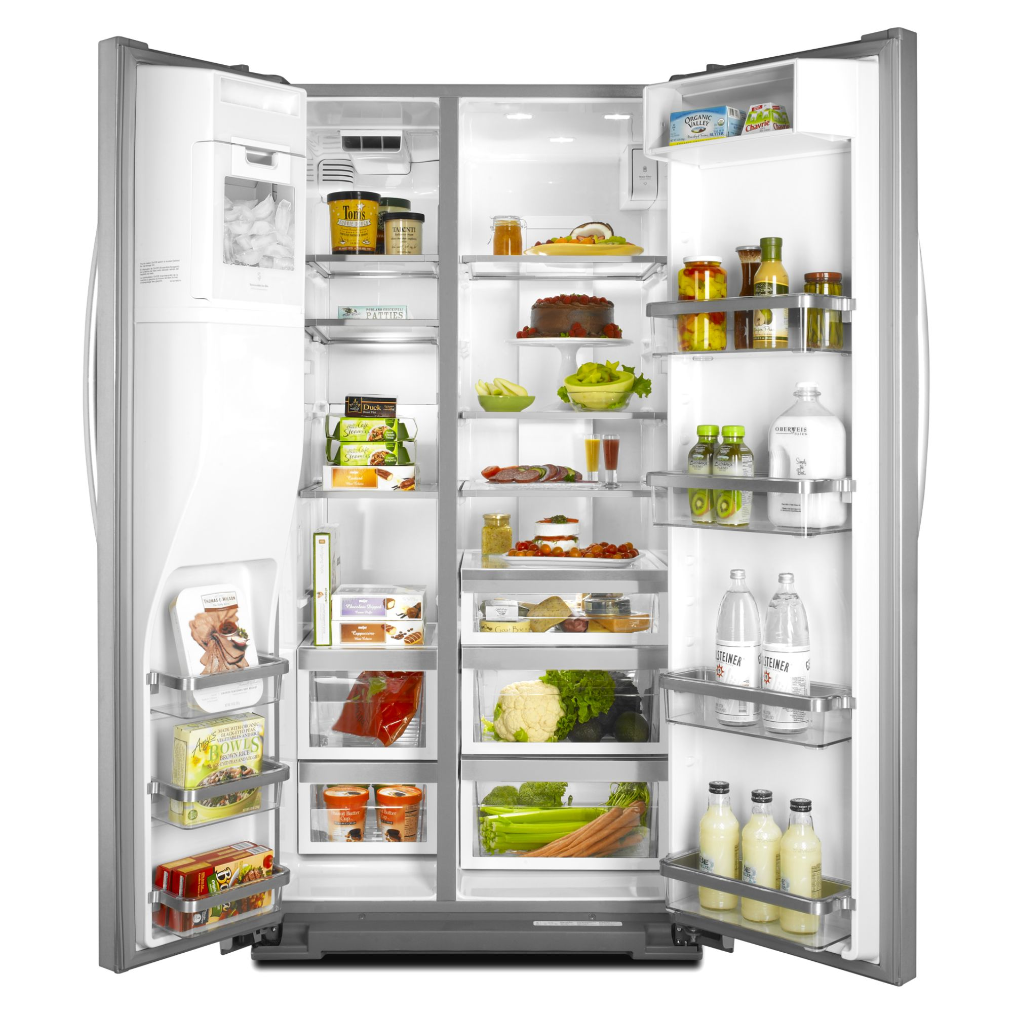 KitchenAid 23.9 cu. ft. Counter-Depth Side-by-Side Refrigerator - Stainless Steel