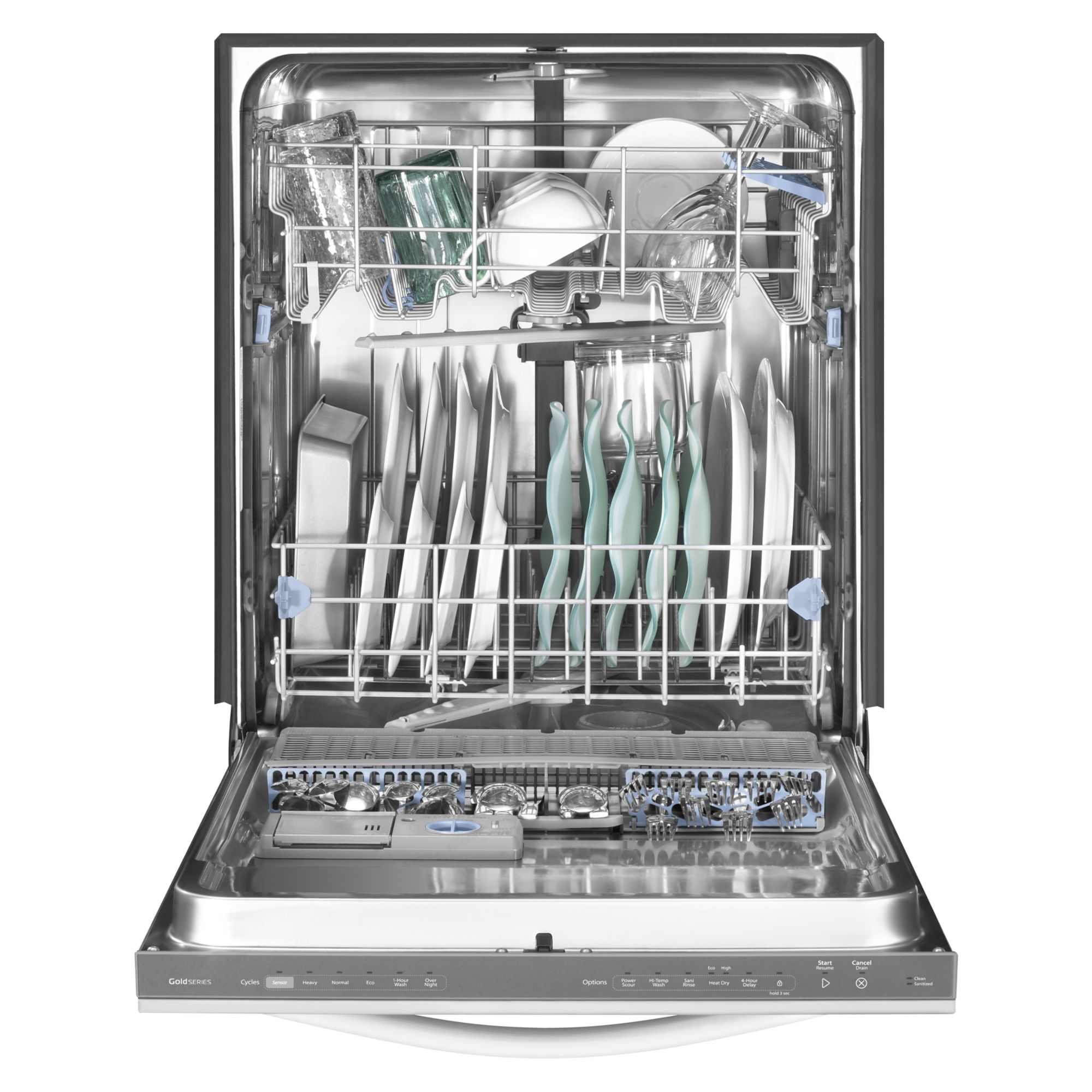 "Whirlpool 24"" Built-In Dishwasher w/ PowerScour™ Option - Stainless Steel"