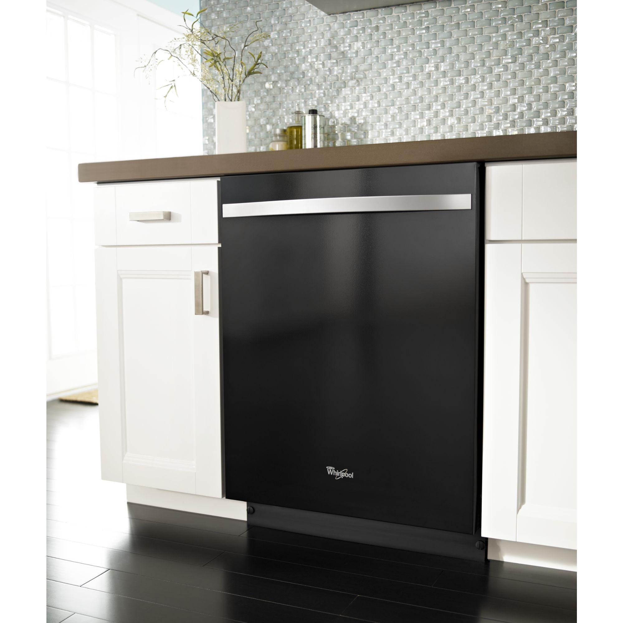 "Whirlpool 24"" Built-In Dishwasher w/ PowerScour™ Option - Black Ice"