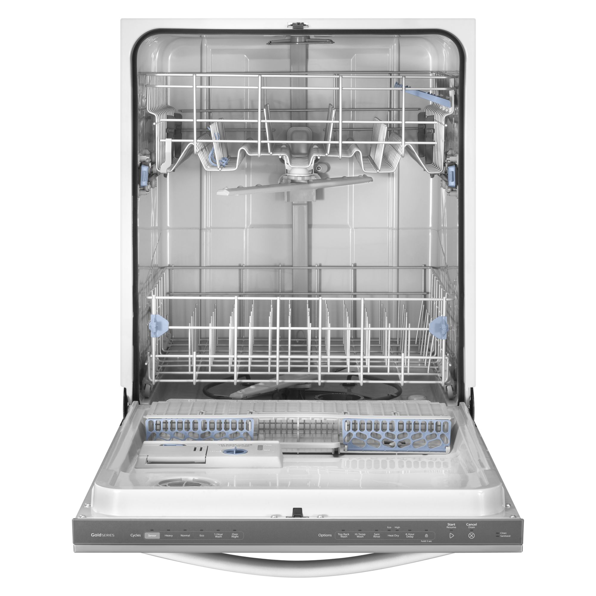 "Whirlpool 24"" Built-In Dishwasher w/ Top Rack Wash Option - Stainless Steel"