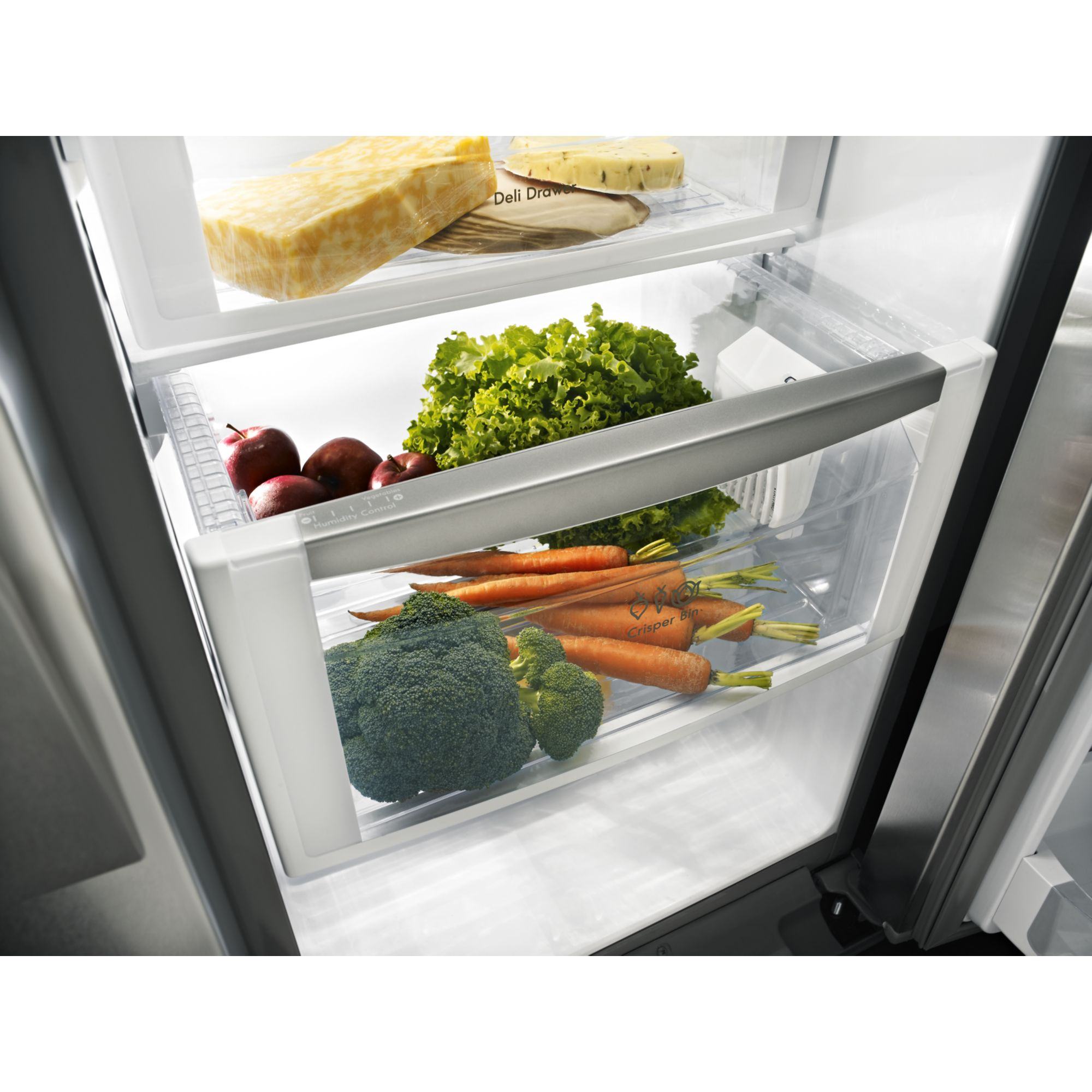 Kenmore Elite 24.5 cu. ft. Side-by-Side Refrigerator w/ Measured Fill - Stainless Steel