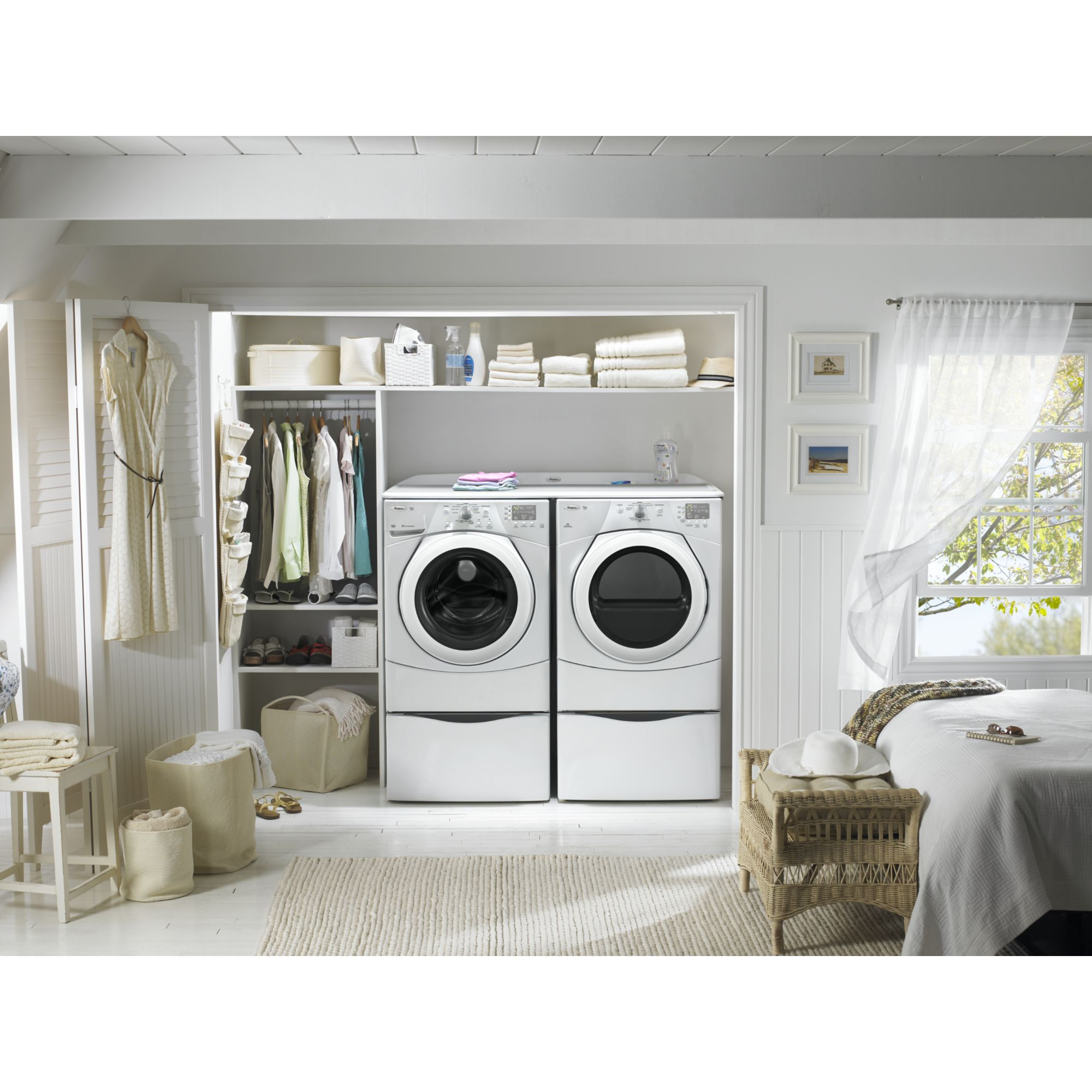 Whirlpool 6.7 cu. ft. Electric Dryer w/ Wrinkle Shield™ Plus Option - White