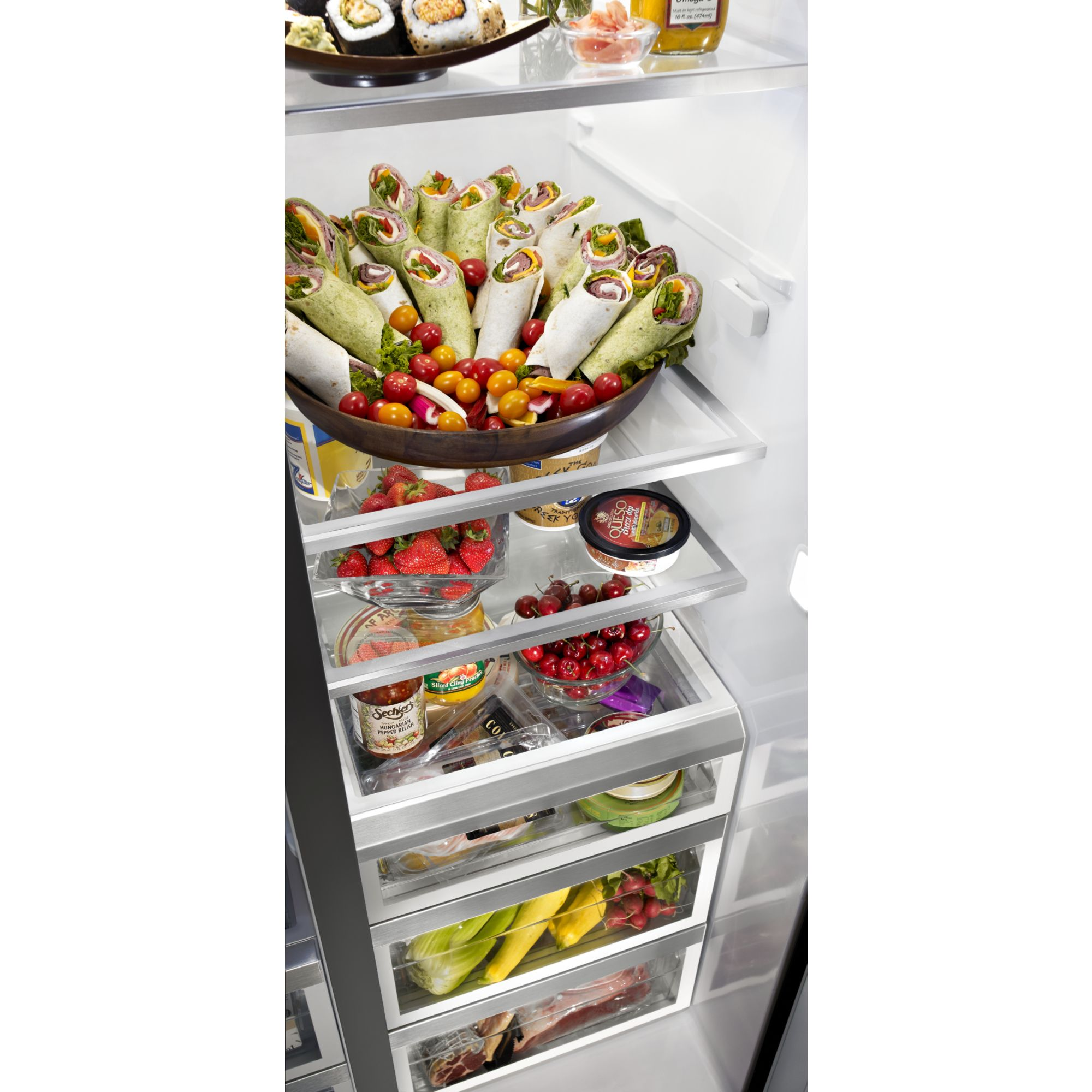 KitchenAid 26.4 cu. ft. Side-by-Side Refrigerator w/ Flush Dispenser Design - Stainless Steel