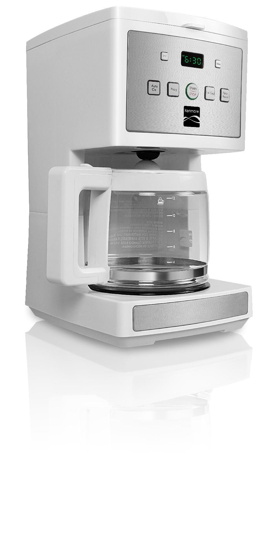 Kenmore 12-Cup Programmable Coffee Maker, White