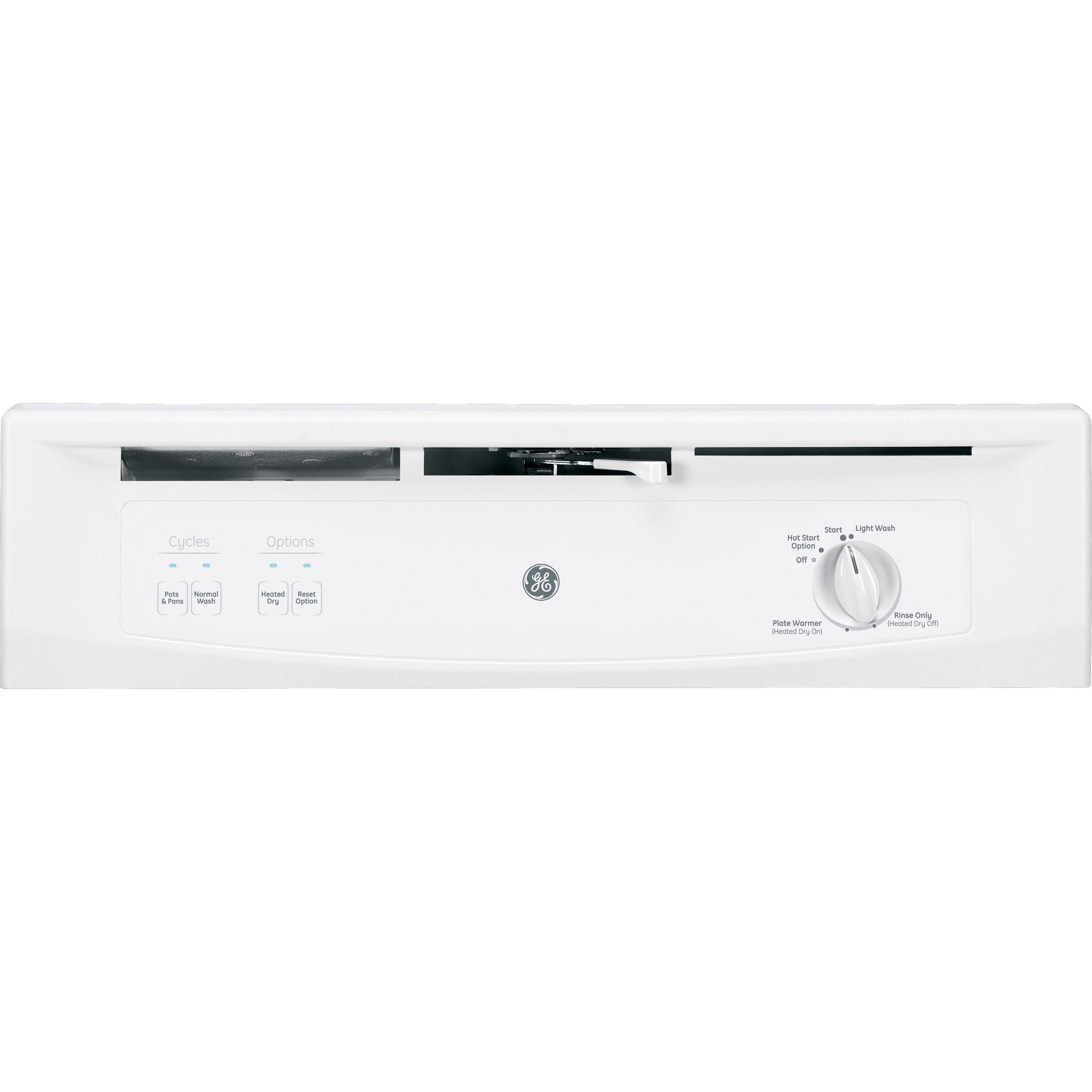 "GE Appliances GSM2200VWW 24"" Under-the-Sink Built-In Dishwasher - White"