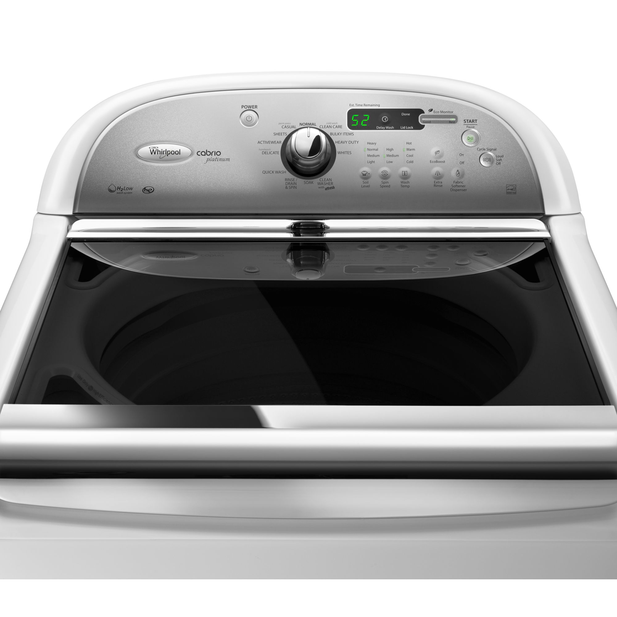 Whirlpool 4.6 cu. ft. High-Efficiency Top-Load Washer w/ Clean Care Cycle - White